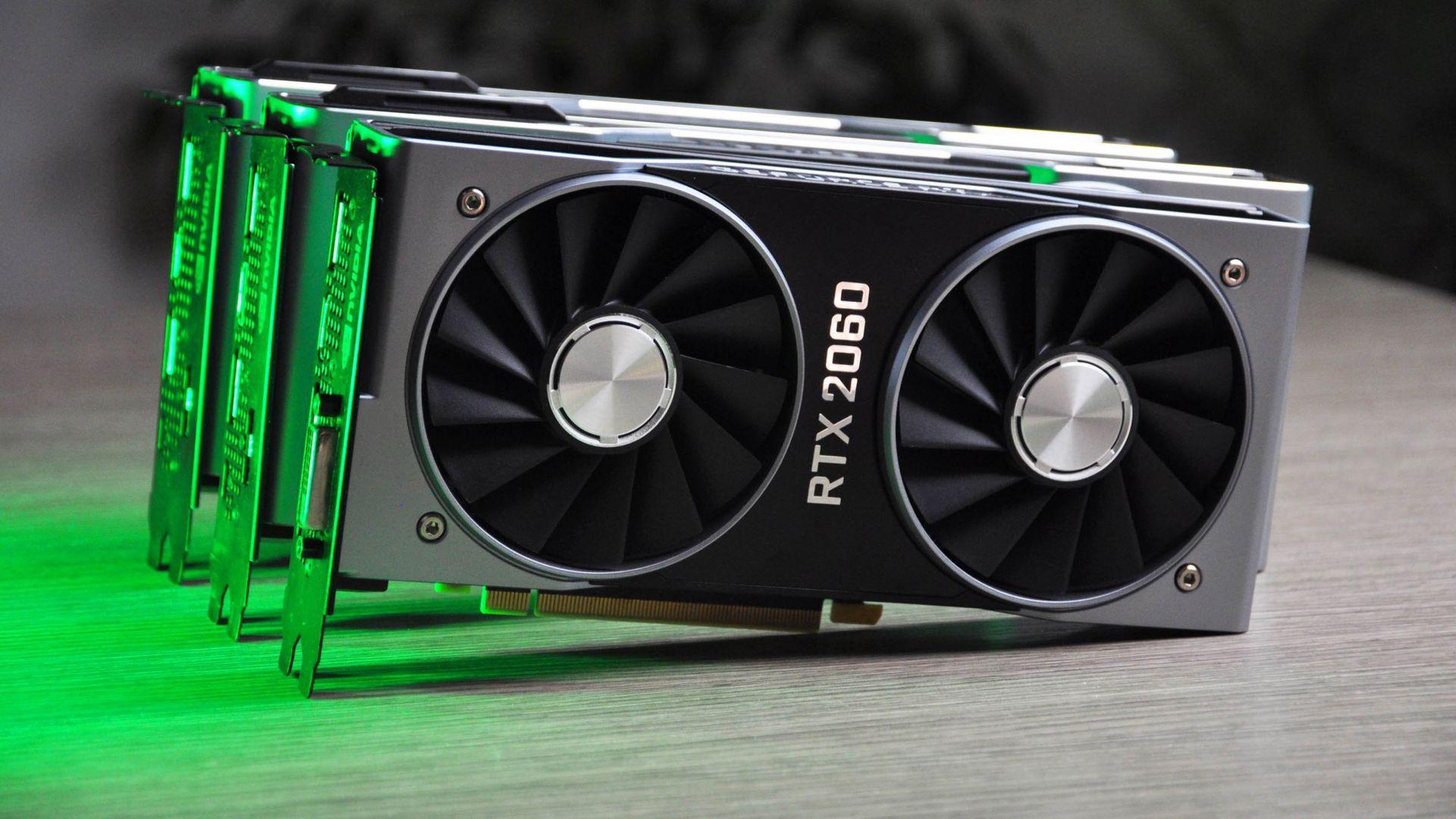 Wallpaper Nvidia GeForce RTX 2060, CES 2019, graphics card, 4K, Hi-Tech #21028