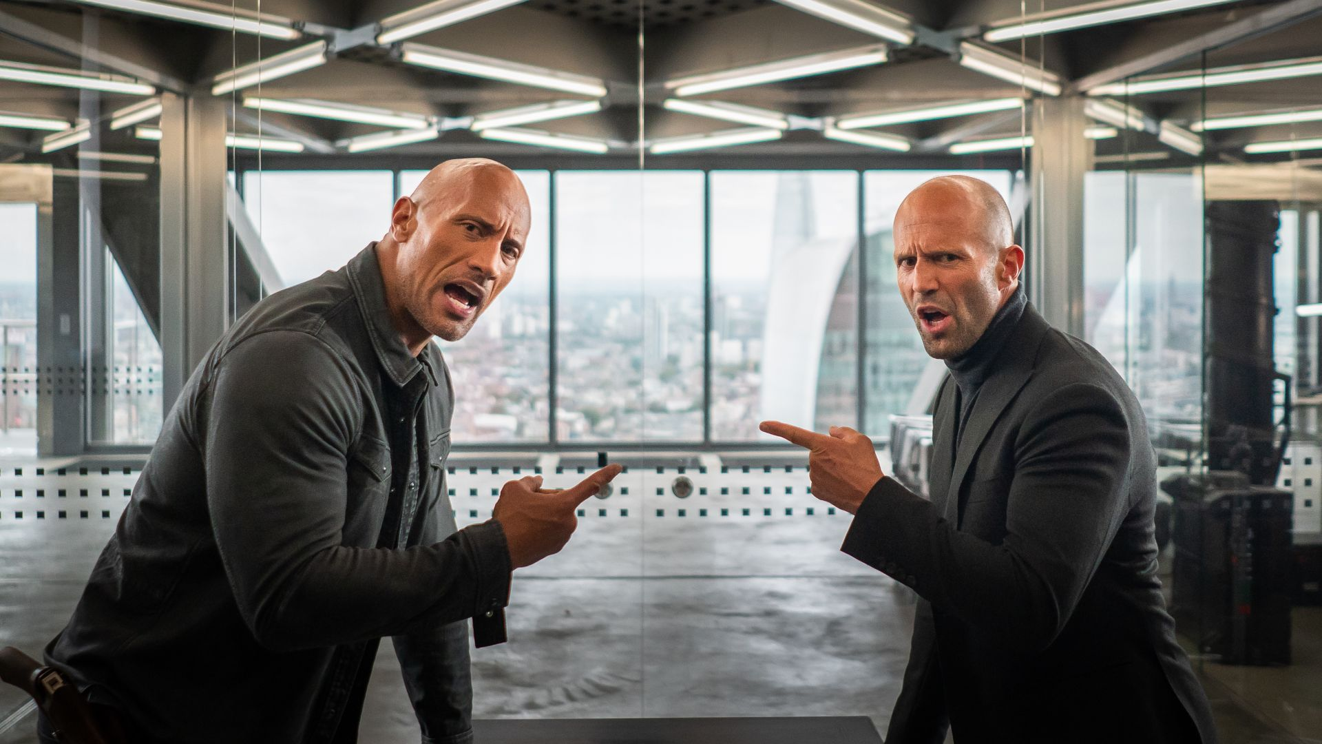 Hobbs And Shaw, Dwayne Johnson, Jason Statham, 4K (horizontal)