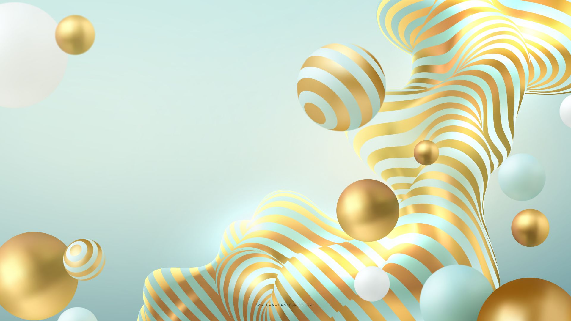 abstract, 3D, colorful, pearls, 8k (horizontal)