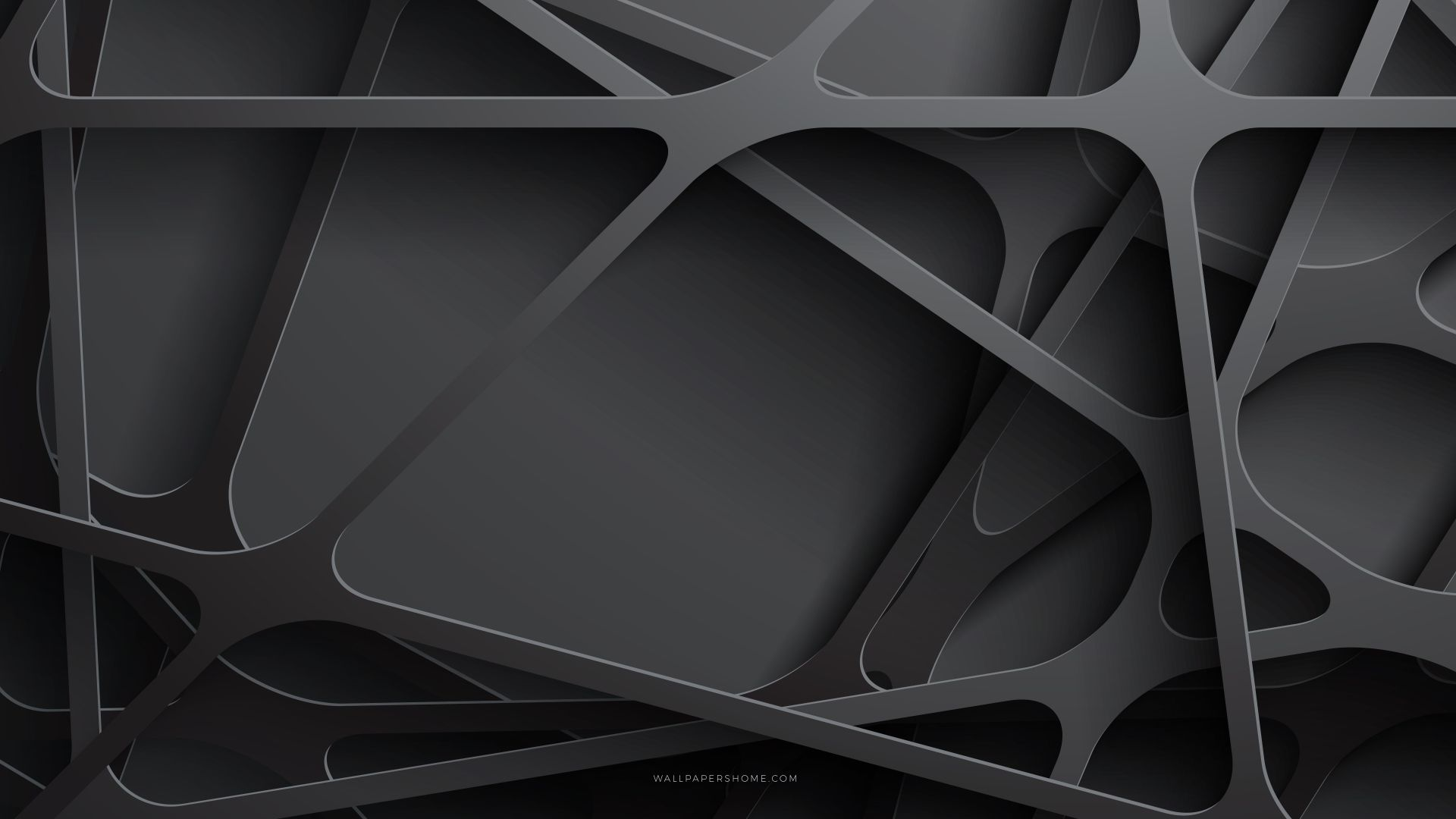 abstract, 3D, black, 8k (horizontal)