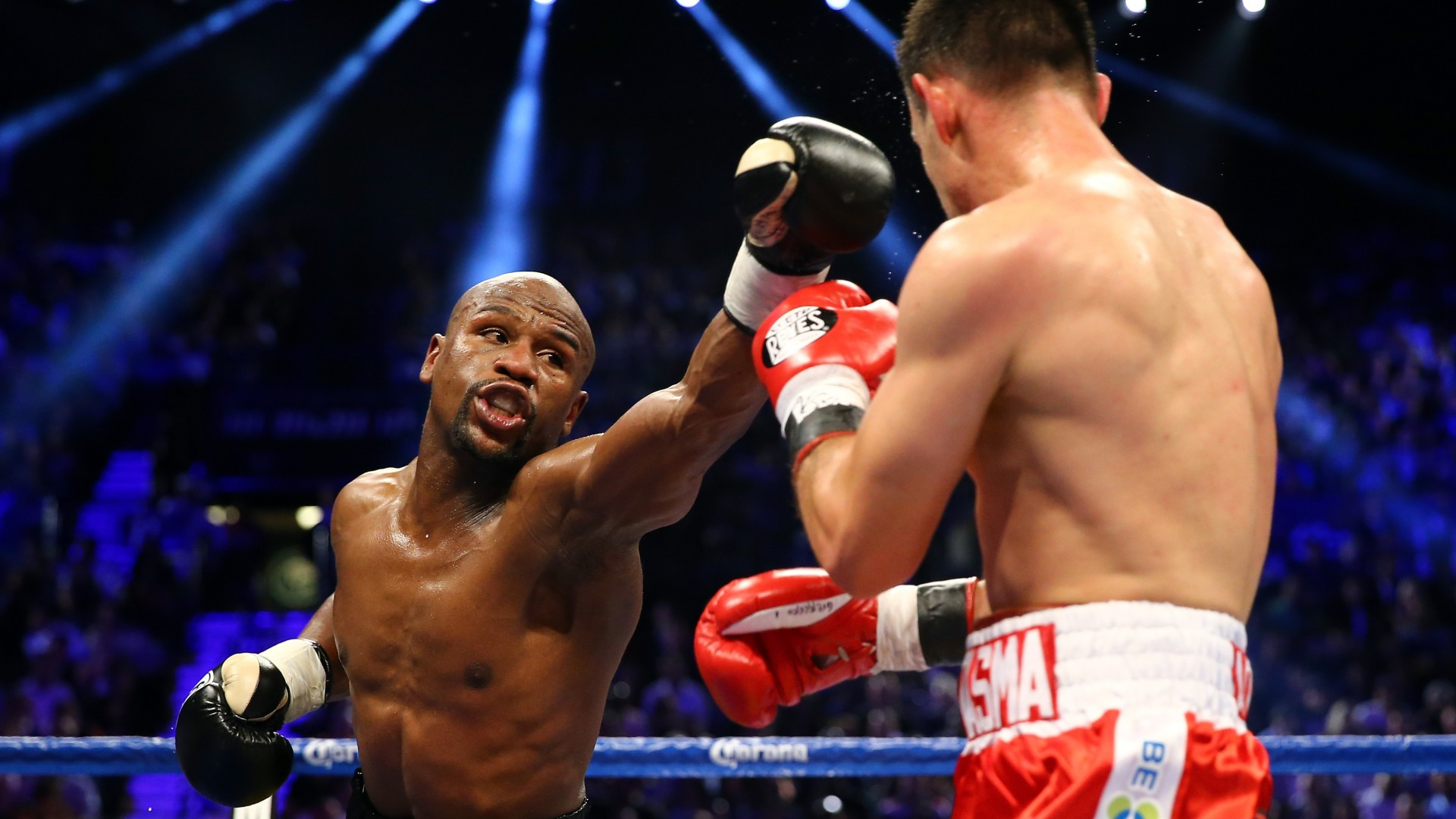 boxing, Floyd Mayweather, American boxer, ring, light (horizontal)
