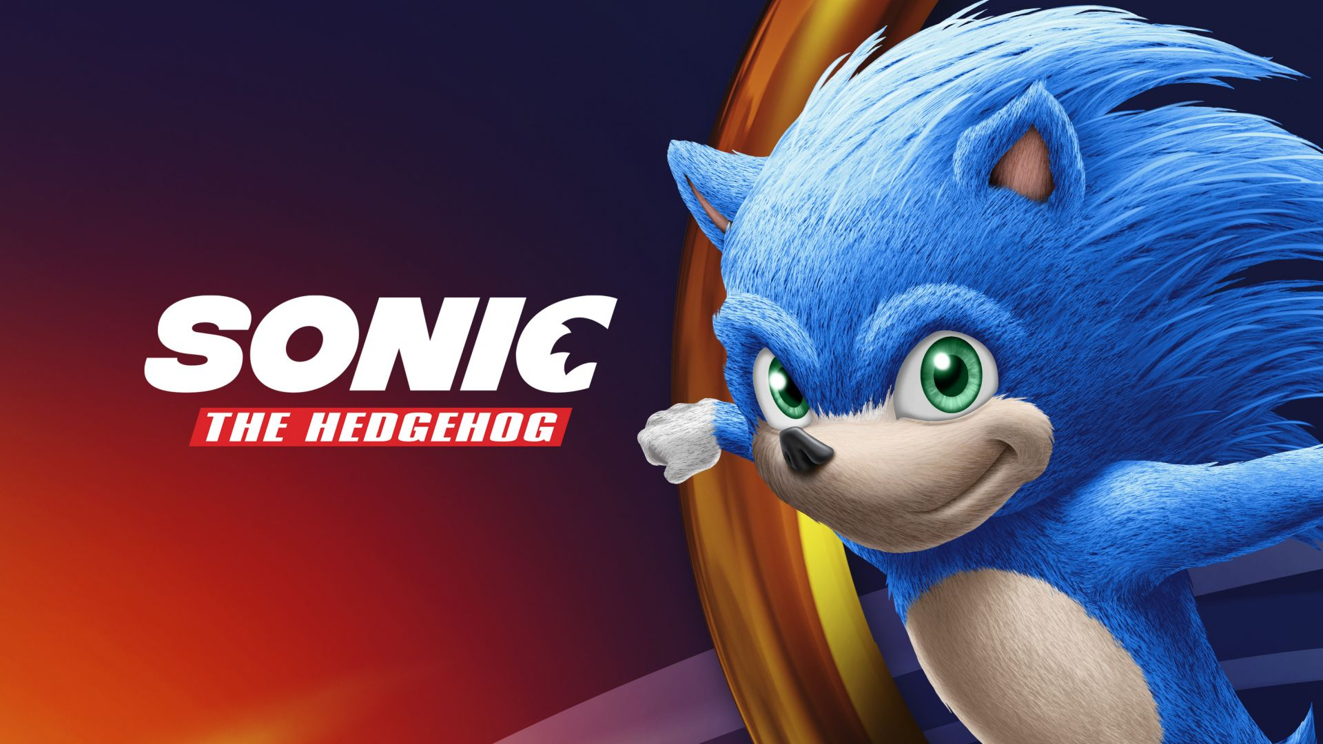 Sonic the Hedgehog, poster, HD (horizontal)