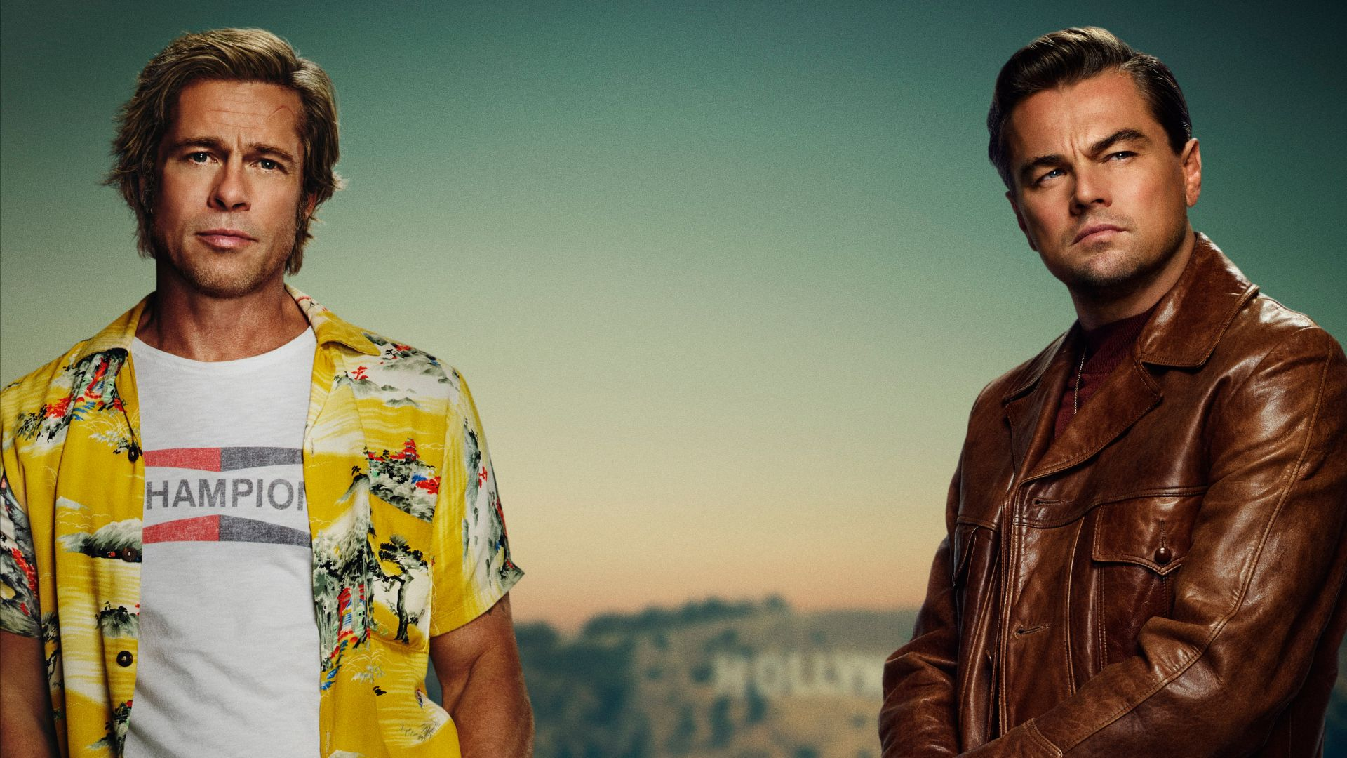 Once Upon A Time In Hollywood, Brad Pitt, Leonardo DiCaprio, 5K (horizontal)