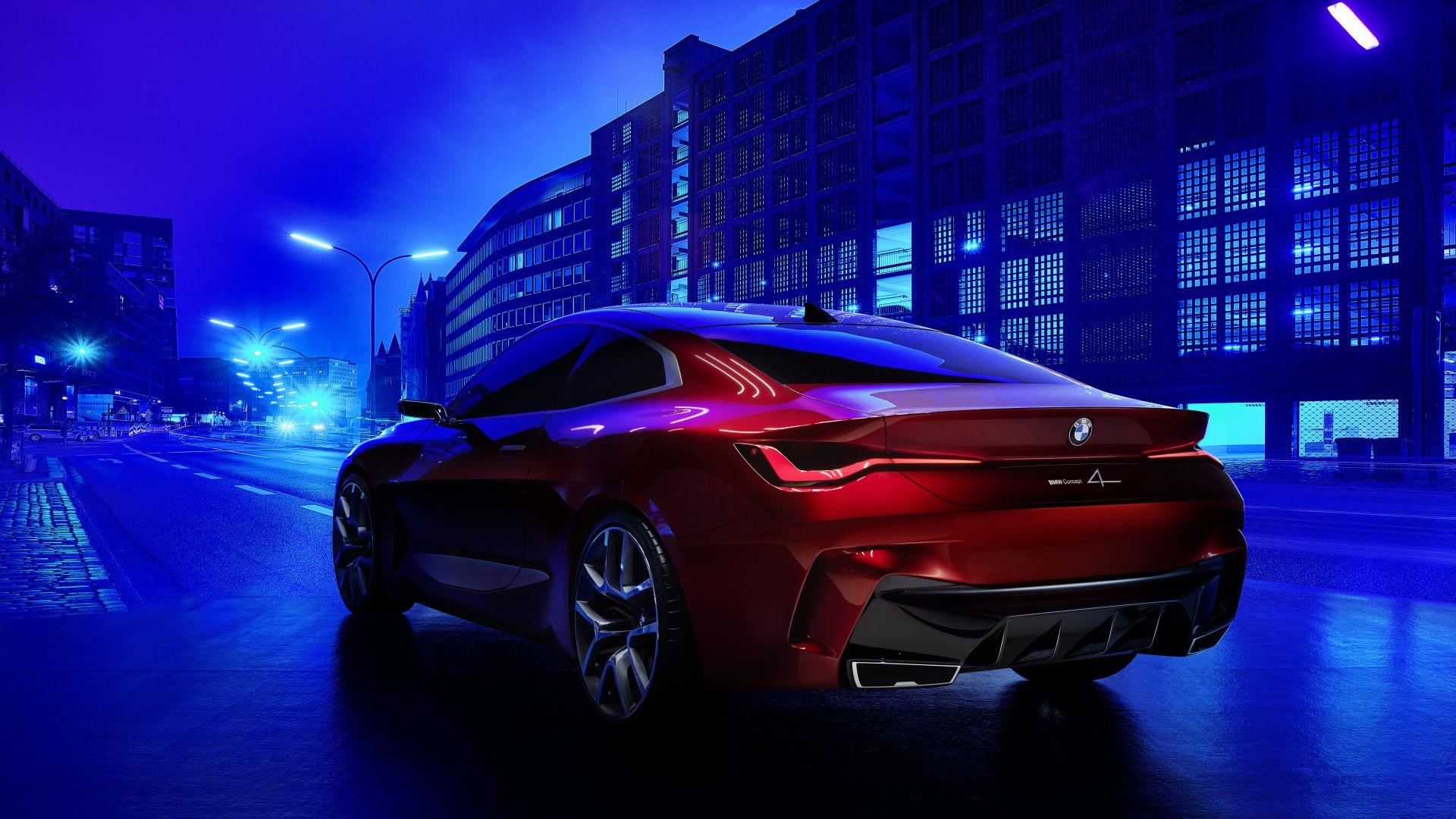 Wallpaper BMW Concept 4, electric cars, Frankfurt Motor ...