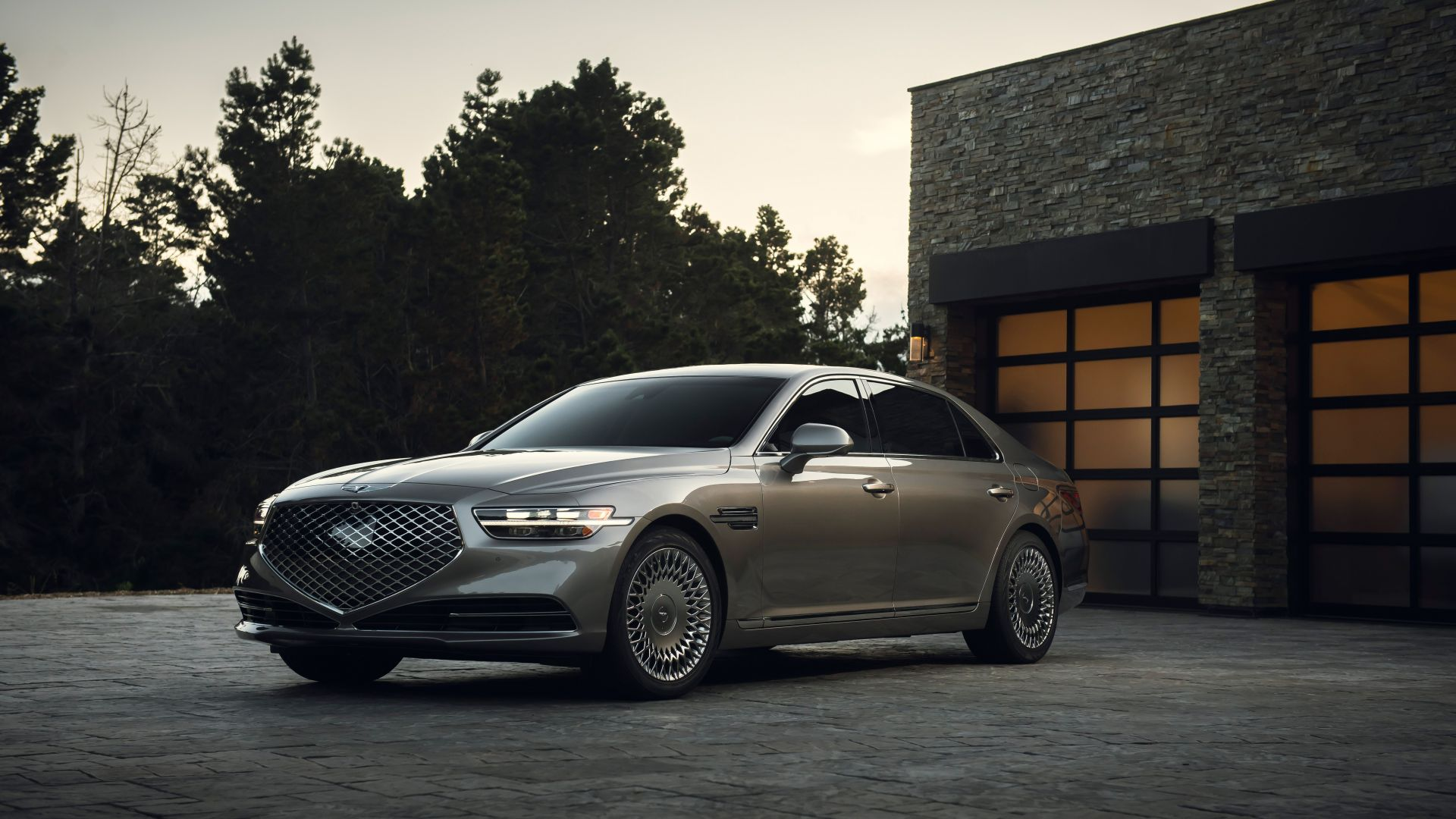 Genesis G90, 2020 cars, luxury cars, 8K (horizontal)