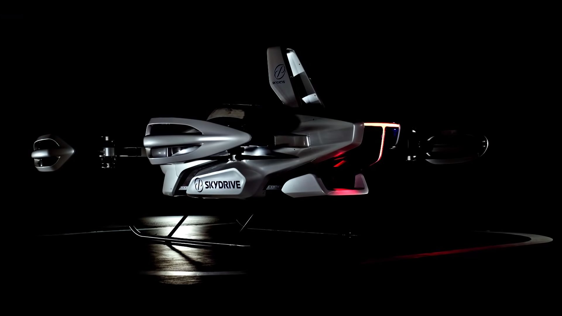Toyota SkyDrive, flying taxi, 4K (horizontal)