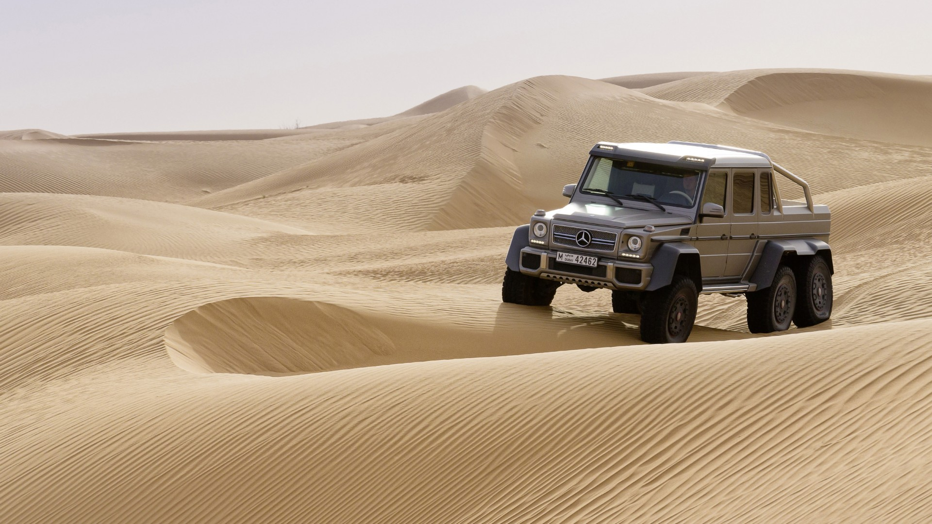 Mercedes-Benz G 63 AMG 6x6, SUV, Mercedes, Brabus G 63 700, G-Class, off-road, luxury cars, test drive, desert (horizontal)