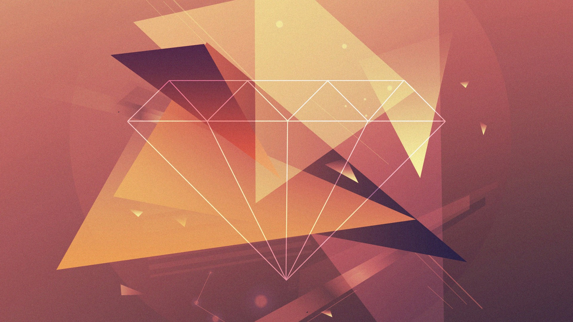 polygon, 4k, 5k wallpaper, diamond, lines, brown, yellow, triangles (horizontal)