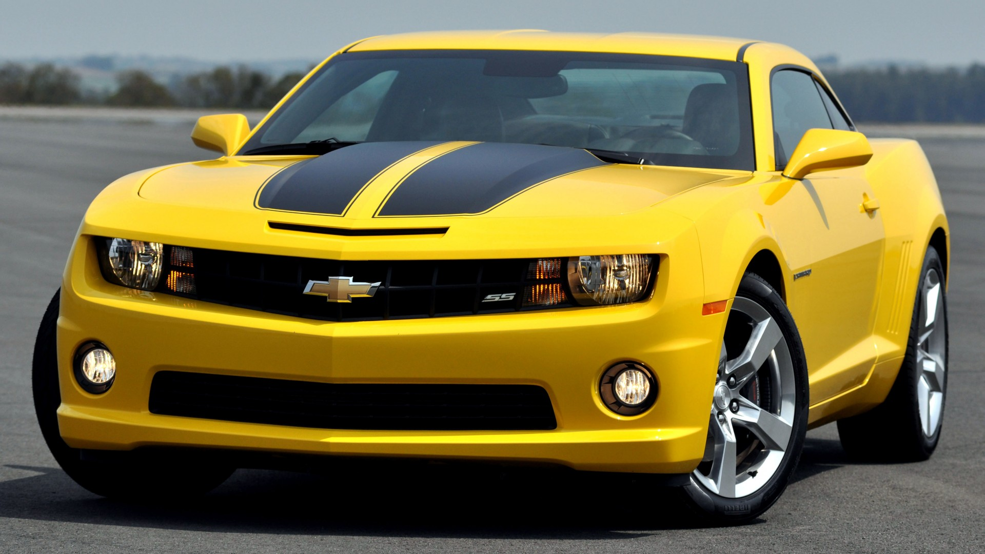 Chevrolet Camaro, muscle car, Transformers, Special Edition, Camaro, sports car, Chevy, Camaro SS, V8, review, test drive, speed, buy, rent, yellow, front (horizontal)