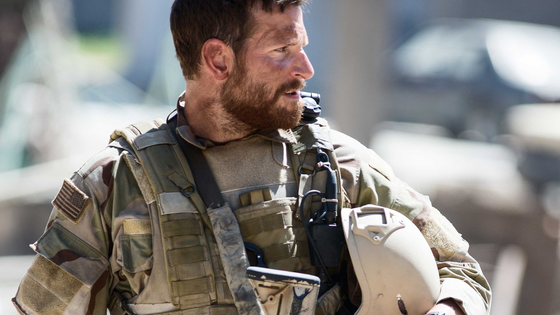 American Sniper, Best Movies of 2015, Chris Kyle, Academy Awards, Bradley Cooper, biographical, Sienna Miller, US Army, USA, war (horizontal)
