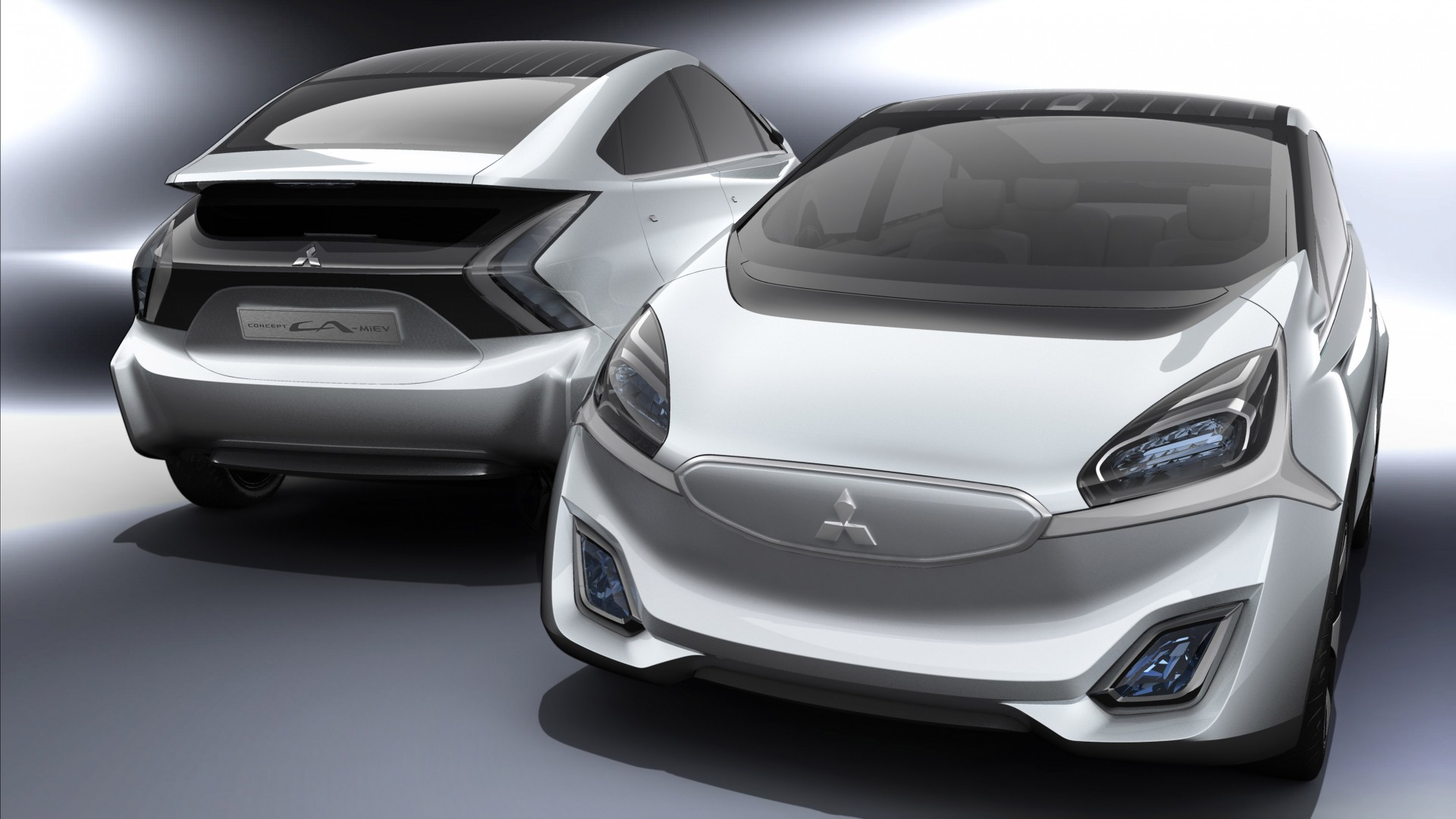 Mitsubishi CA-MiEV, concept, hybrid, ecosafe, electric cars, city cars, review, test drive, front, back (horizontal)