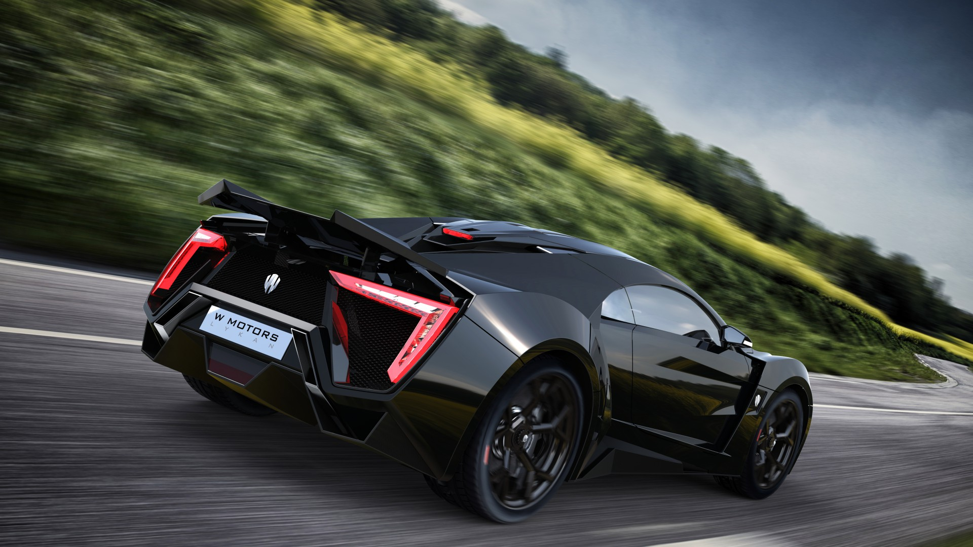 Lykan HyperSport, supercar, W Motors, sports car, luxury cars, speed, test drive, black, road (horizontal)
