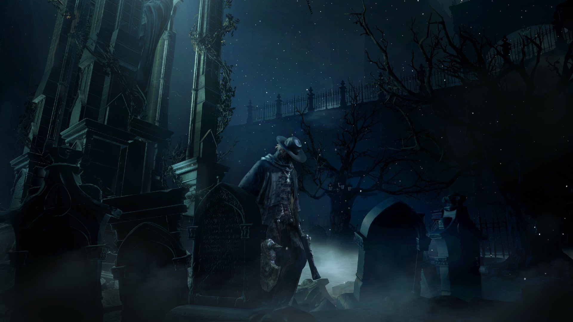 Bloodborne, gameplay, review, screenshot, interface, game, Yharnam, Best Games 2015, Cleric, beast, darkness, fog (horizontal)