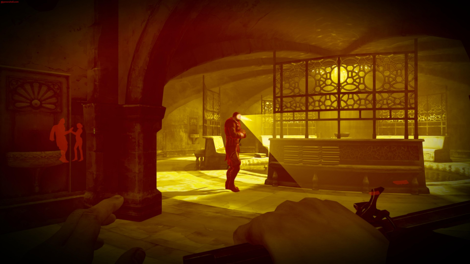 Dishonored, game, stealth, gameplay, screenshot, fan art, Chloe Moretz, light, monster, creepy (horizontal)