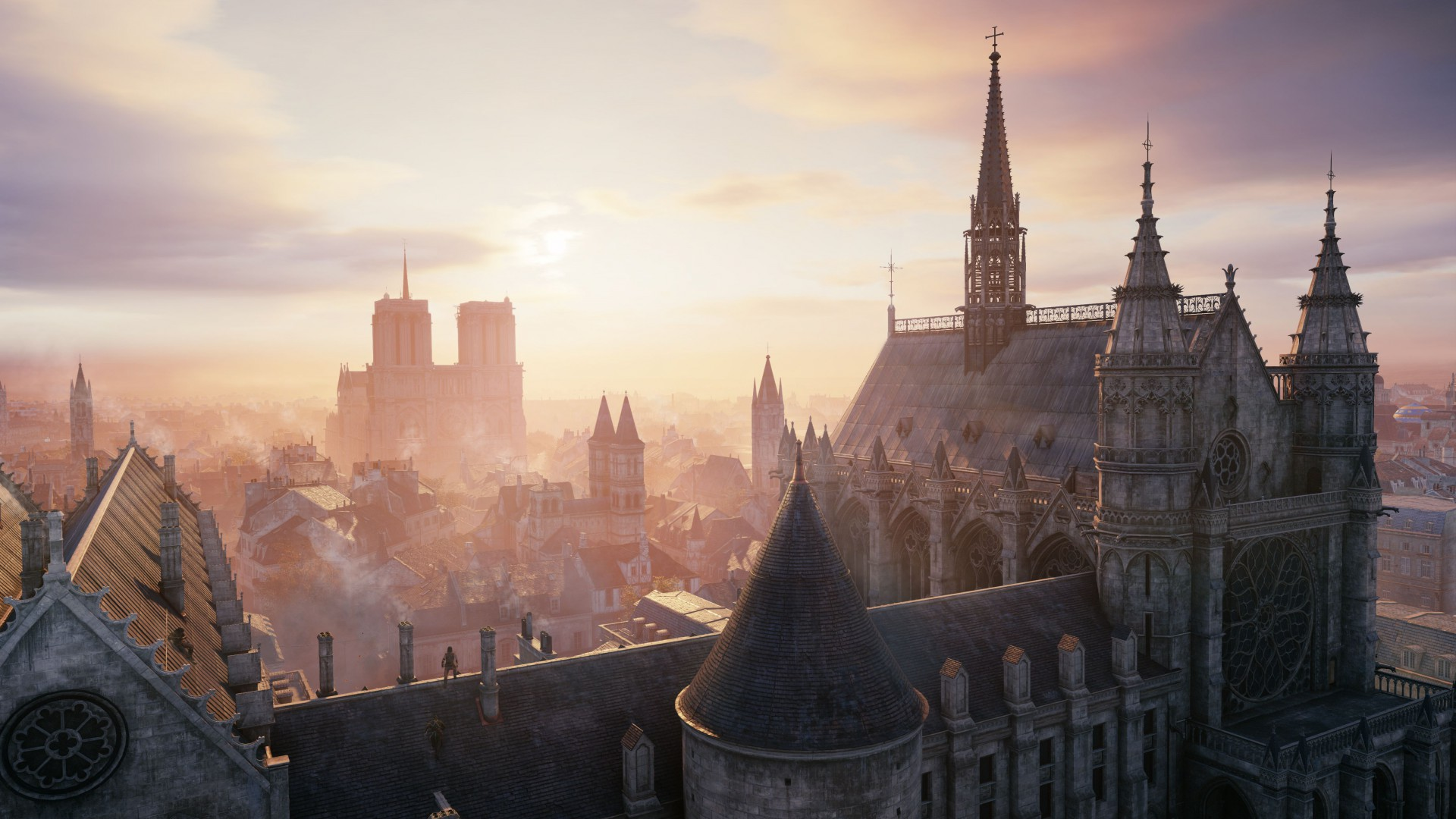Assassin's Creed: Unity, game, stealth action game, city, screenshot, gameplay, review, 4k, 5k, PS4, Xbox One, PC (horizontal)