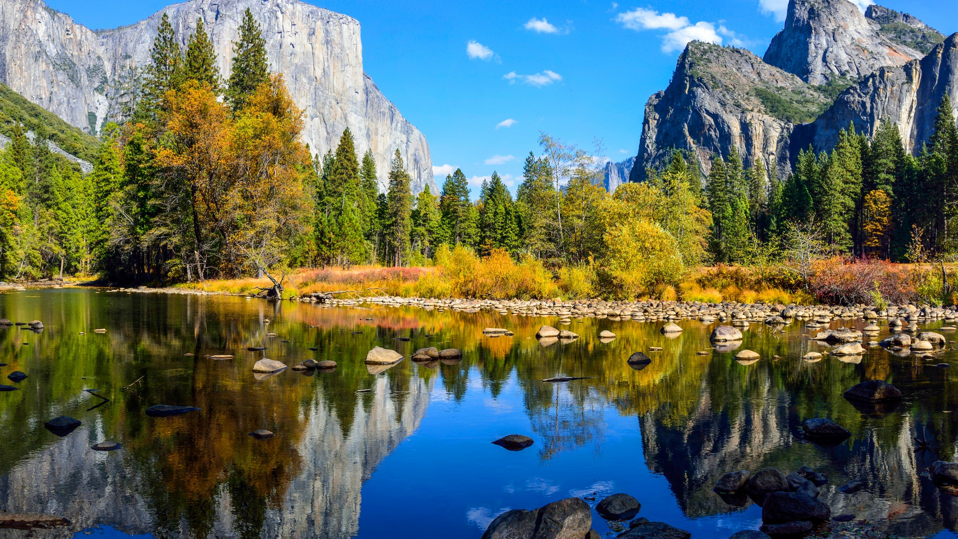 Yosemite, 5k, 4k wallpaper, El Capitan, forest, OSX, apple, mountains, lake (horizontal)
