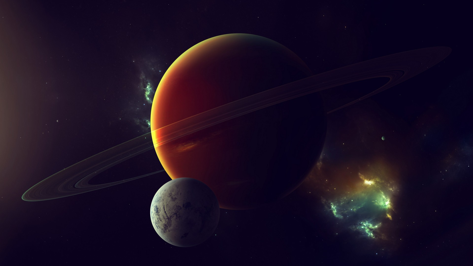 Exoplanet, Planet, space, stars (horizontal)