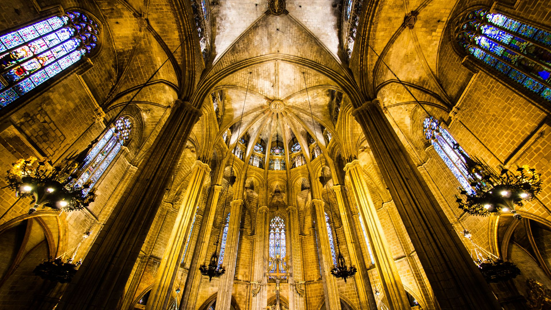 Barcelona Cathedral, Spain, tourism, travel, vacation (horizontal)