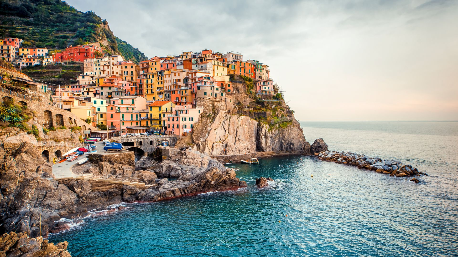 Manarola, Italy, Tourism, Travel (horizontal)
