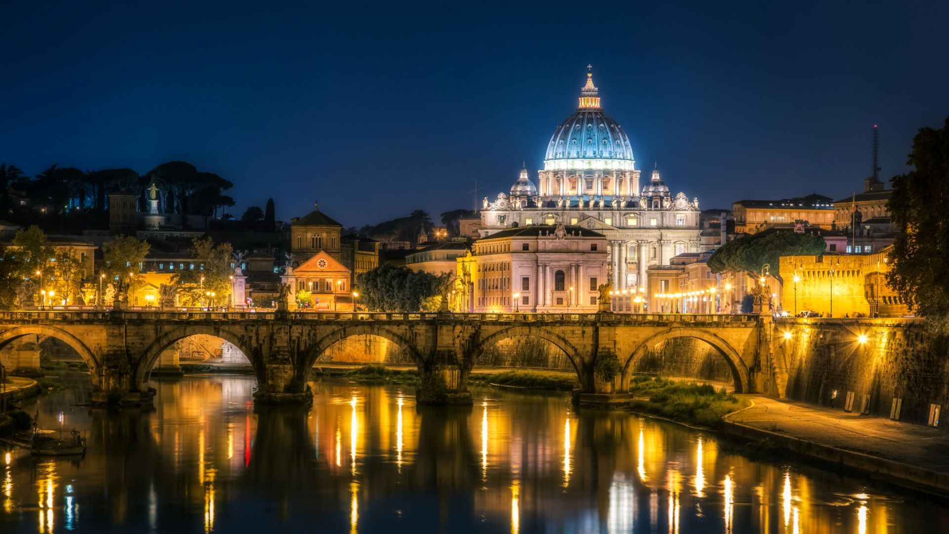 st. angelo bridge, Rome, Italy, Tourism, Travel (horizontal)
