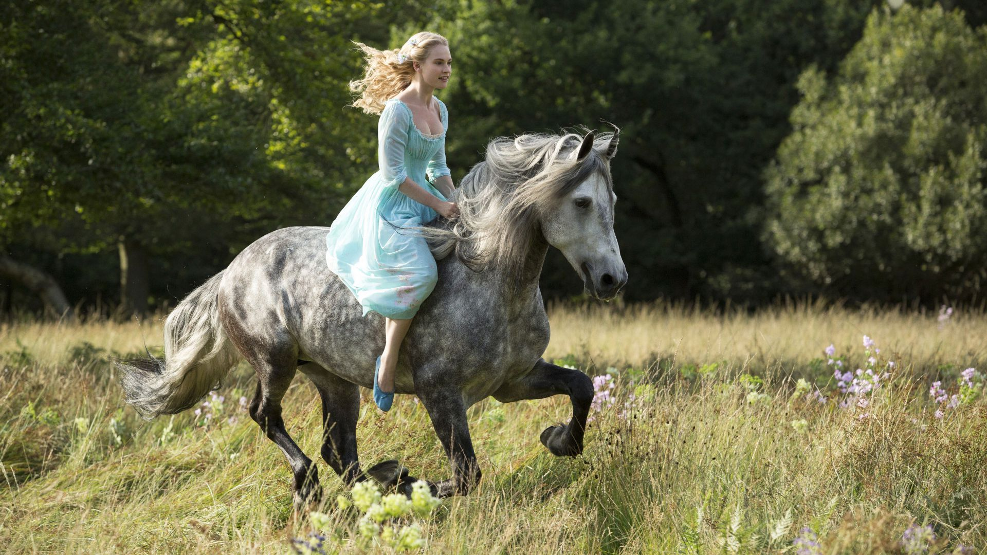 Cinderella, Best Movies of 2015, film, romantic, blonde, fog, Lily James (horizontal)