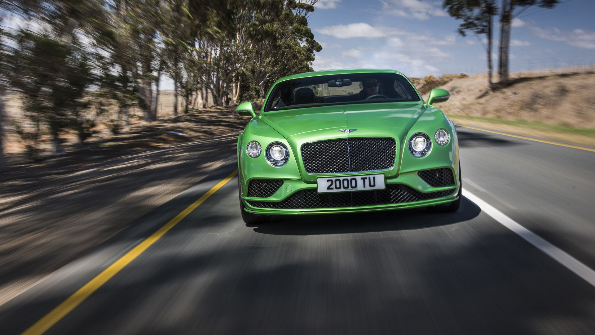 bentley continental gt speed, coupe, luxery, green. (horizontal)