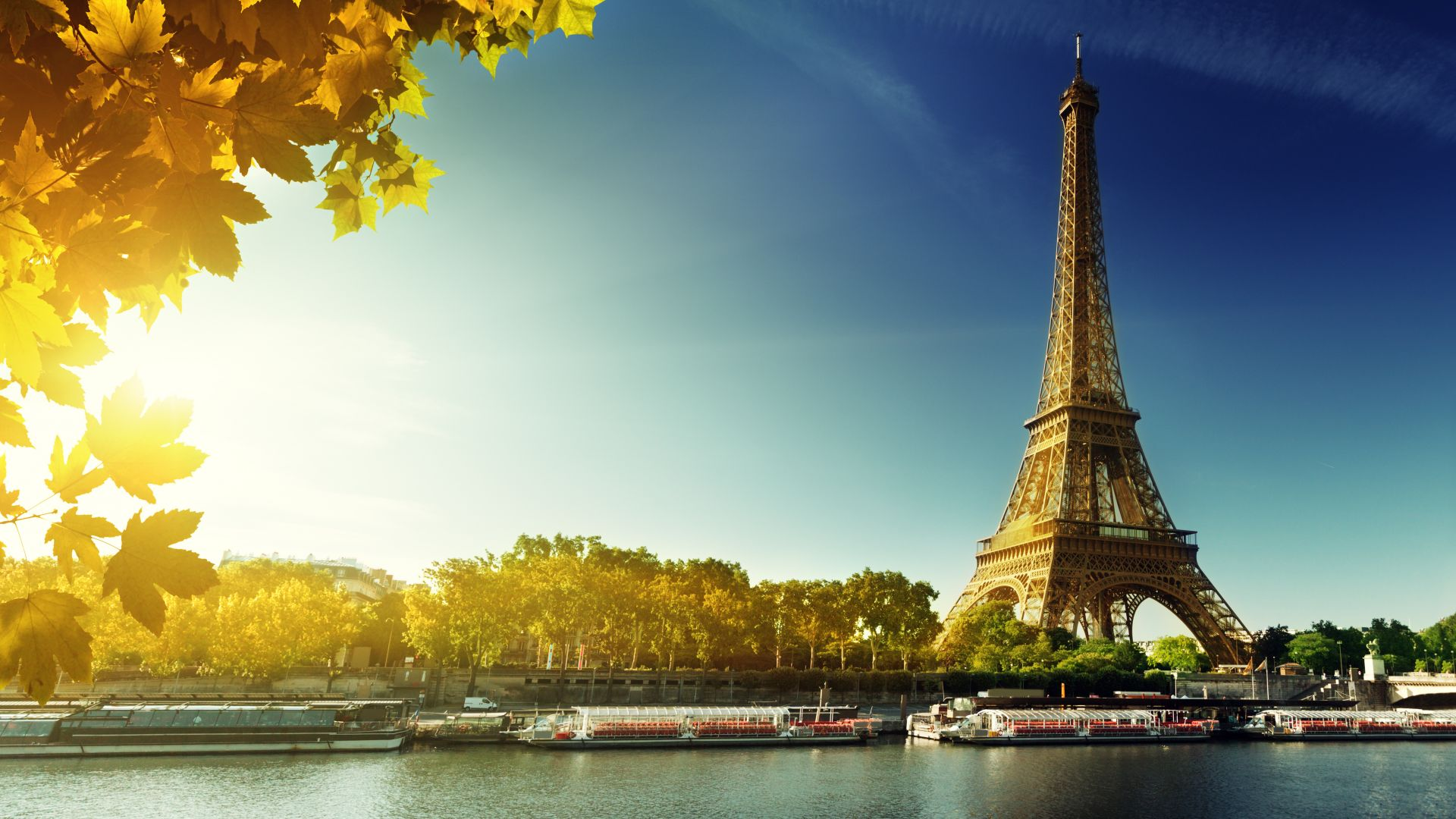 Paris, Eiffel Tower, France, autumn, travel, tourism (horizontal)