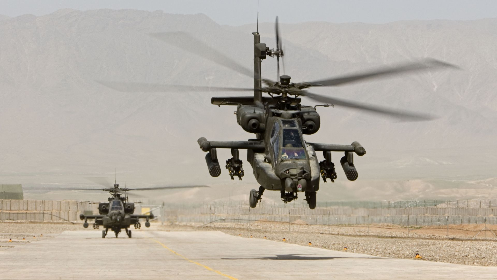 AH-64, Apache, attack helicopter, US Army, U.S. Air Force (horizontal)