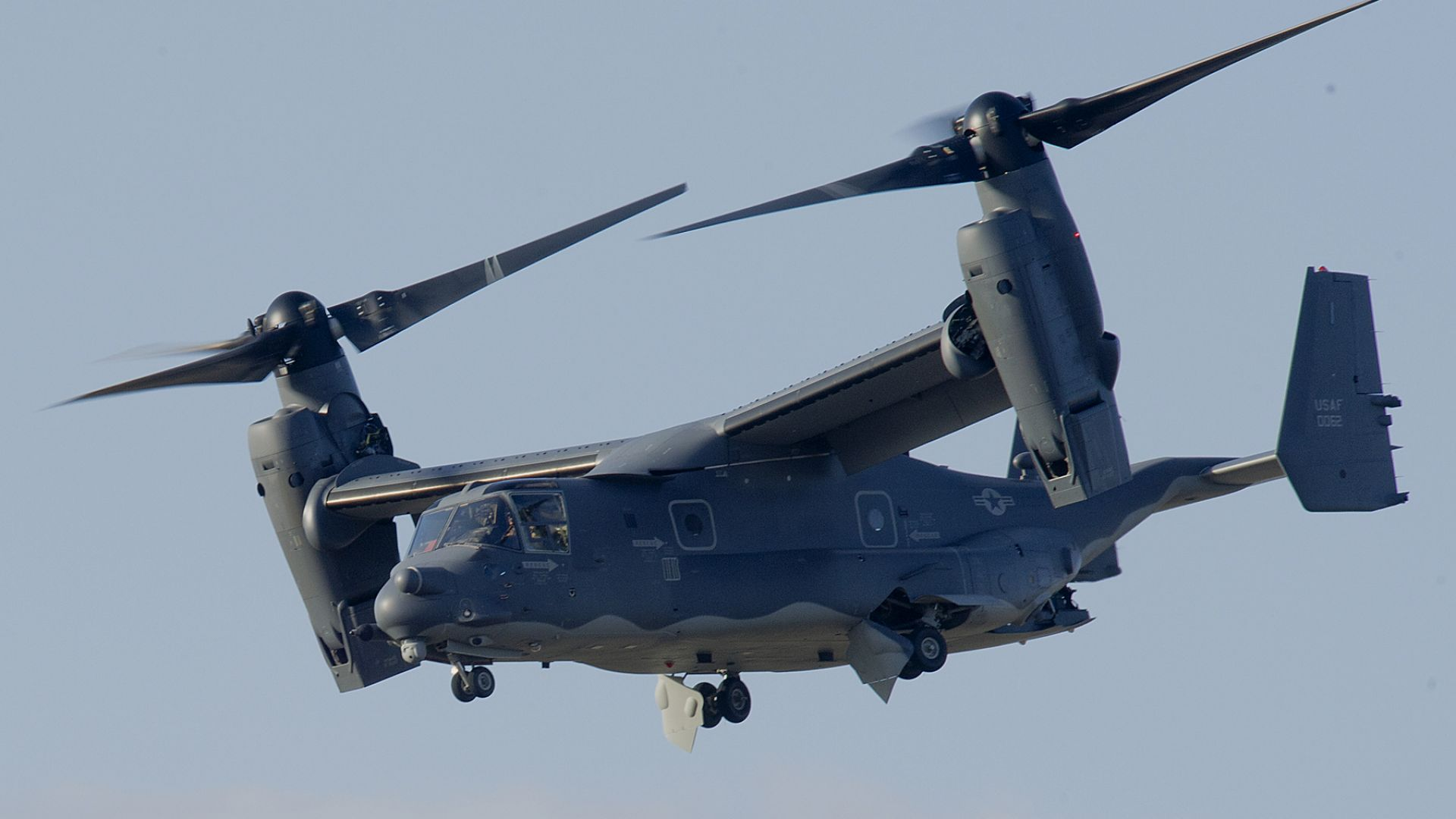 V-22 Osprey, tiltrotor, multi-mission aircraft, Bell, Boeing, US Army, U.S. Air Force (horizontal)
