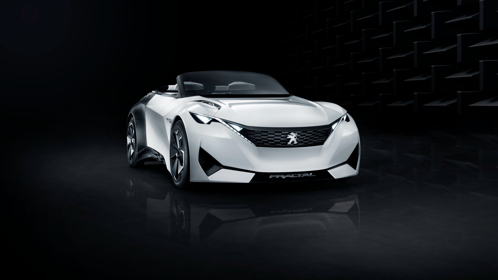 Peugeot Fractal, electric cars, white, black (horizontal)