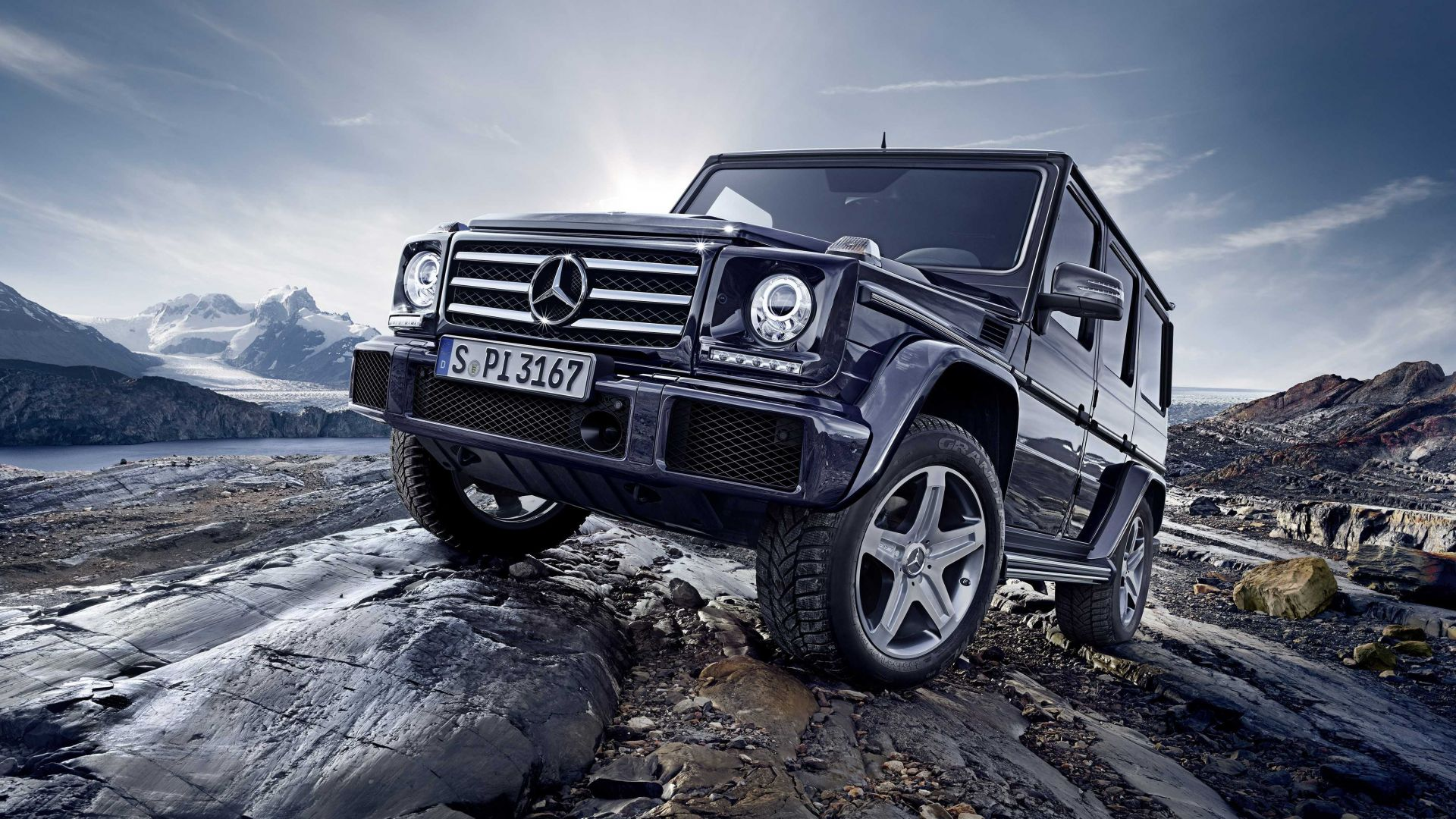 Mercedes-Benz G 500, SUV, Mercedes, G-Class, off-road, black, luxury cars (horizontal)