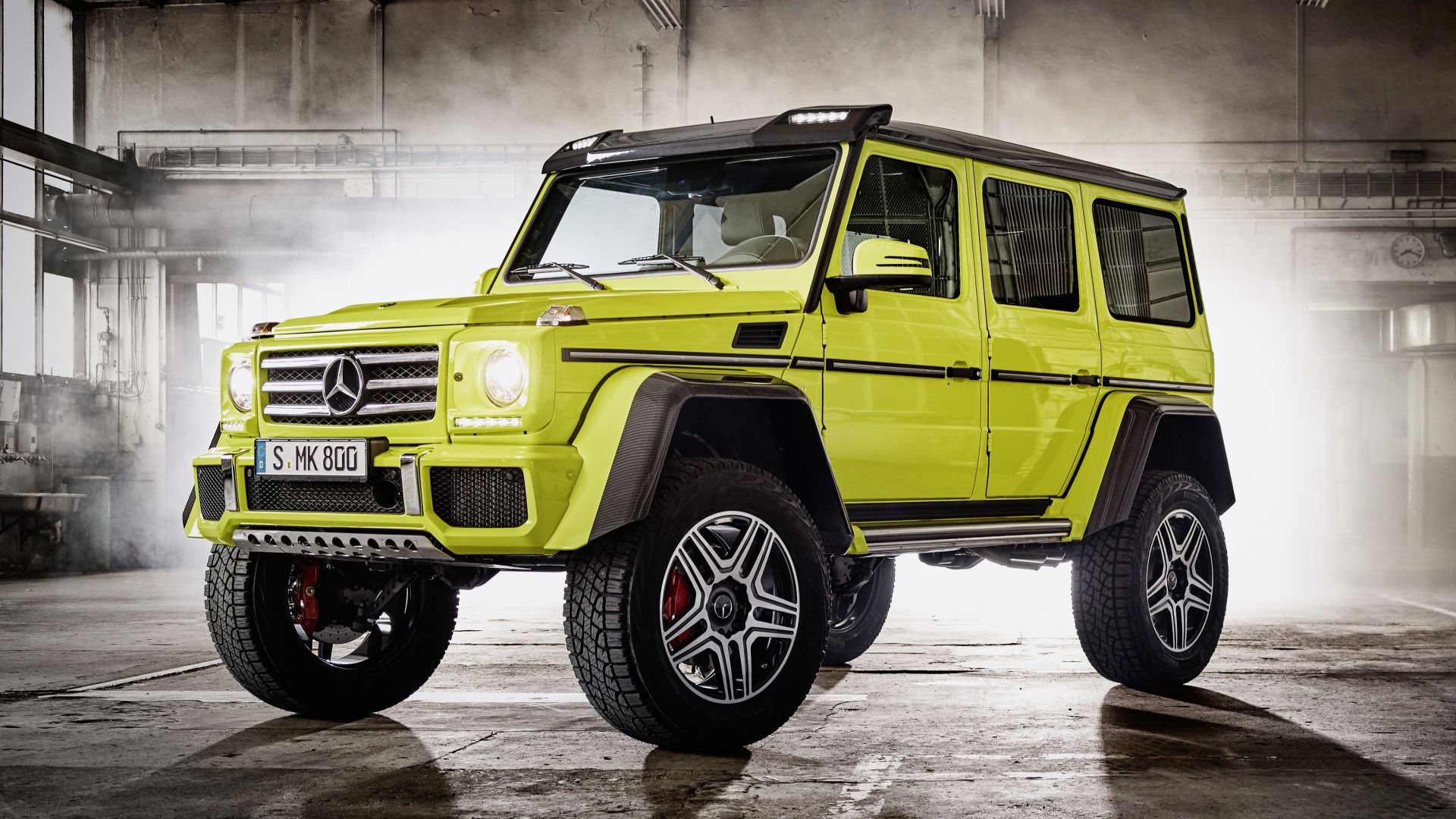 Mercedes-Benz G 500, SUV, Mercedes, G-Class, off-road, yellow, luxury cars (horizontal)