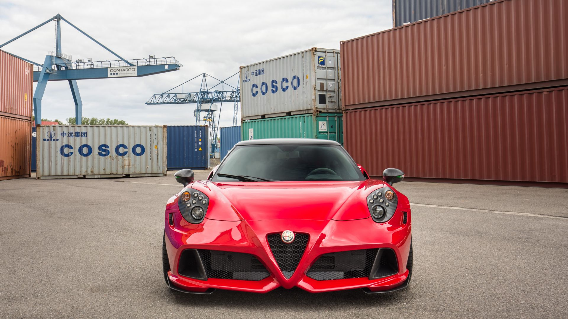 Alfa Romeo Zender, Alfa Romeo, red, sports car, Frankfurt 2015, cars 2016 (horizontal)