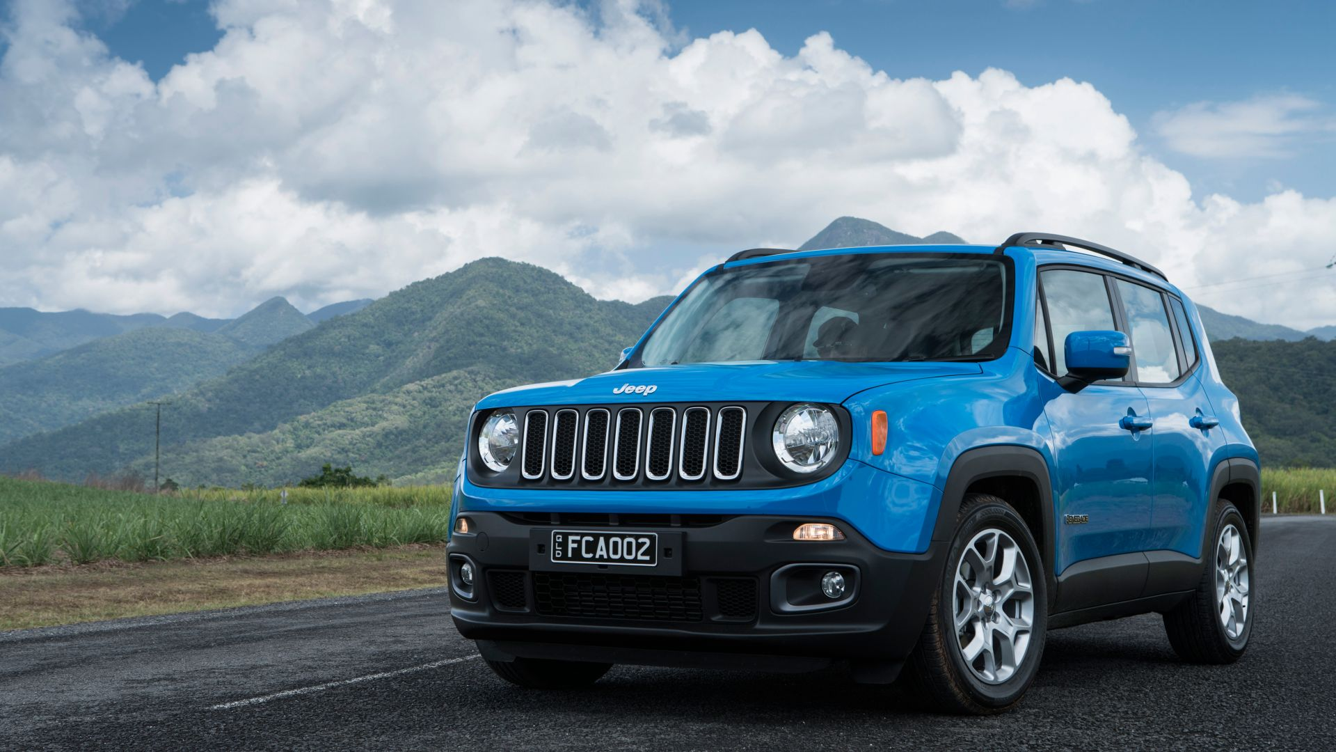 Jeep Renegade Longitude, blue, SUV (horizontal)