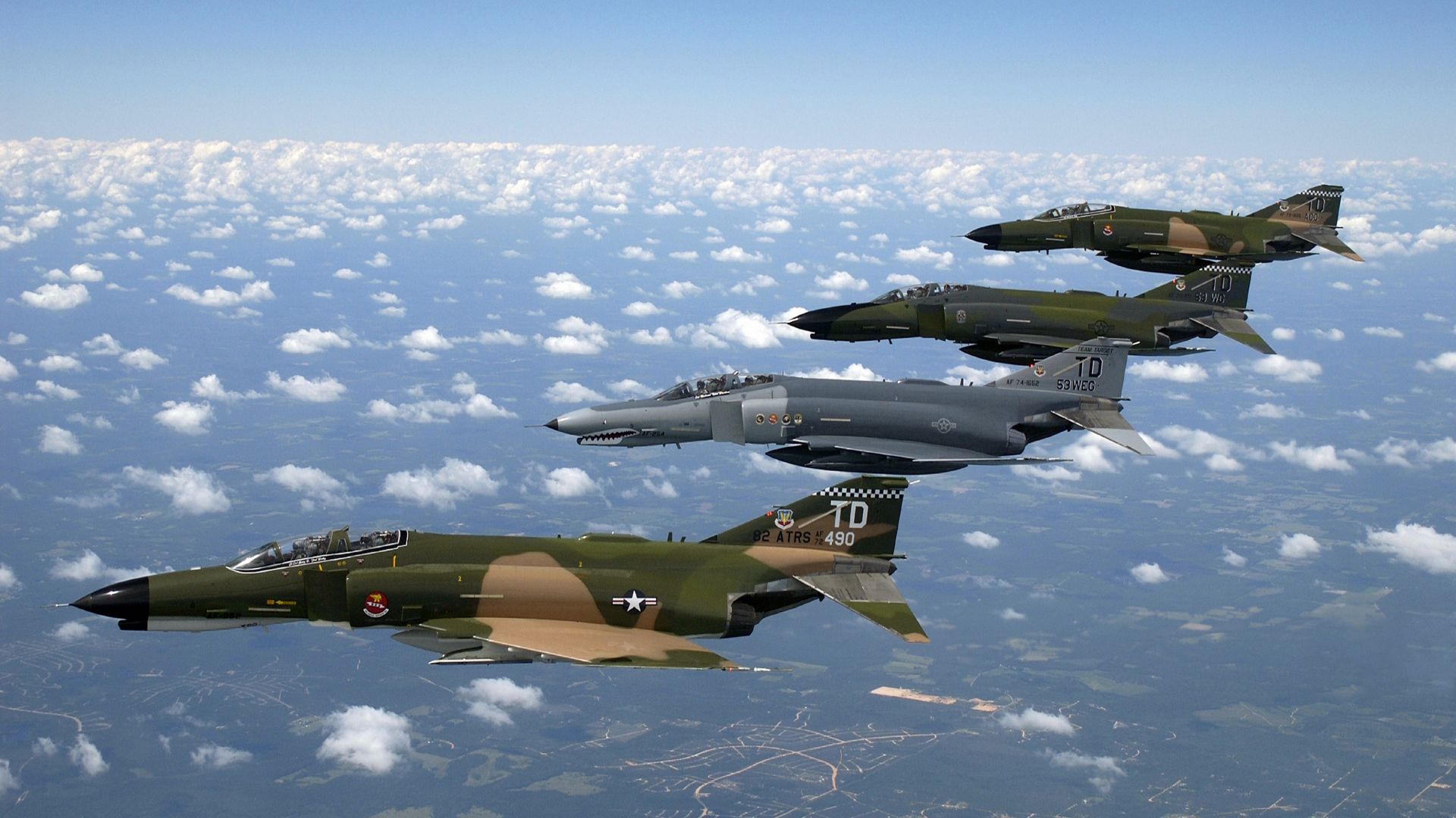 McDonnell Douglas F-4 Phantom II, F 4, fighter-bomber, Phantom 2, US Air Force, fighter (horizontal)