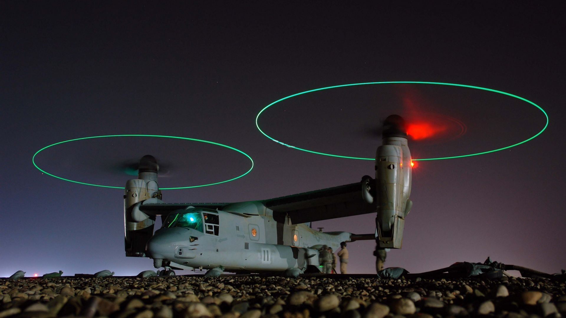 Bell V-22 Osprey, tiltrotor military aircraft, U.S. Air Force (horizontal)