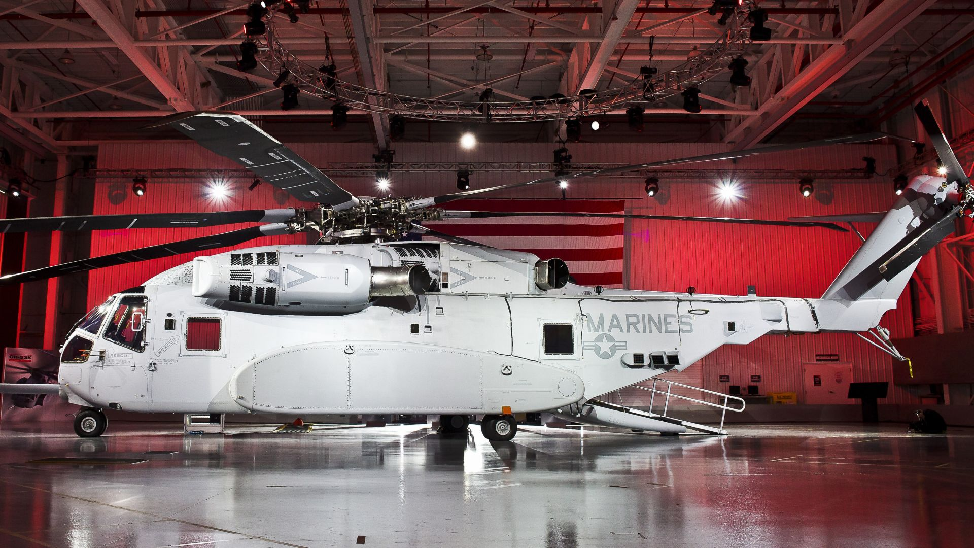 Sikorsky CH-53K King Stallion, fighter helicopter, fighter, U.S. Air Force,  (horizontal)