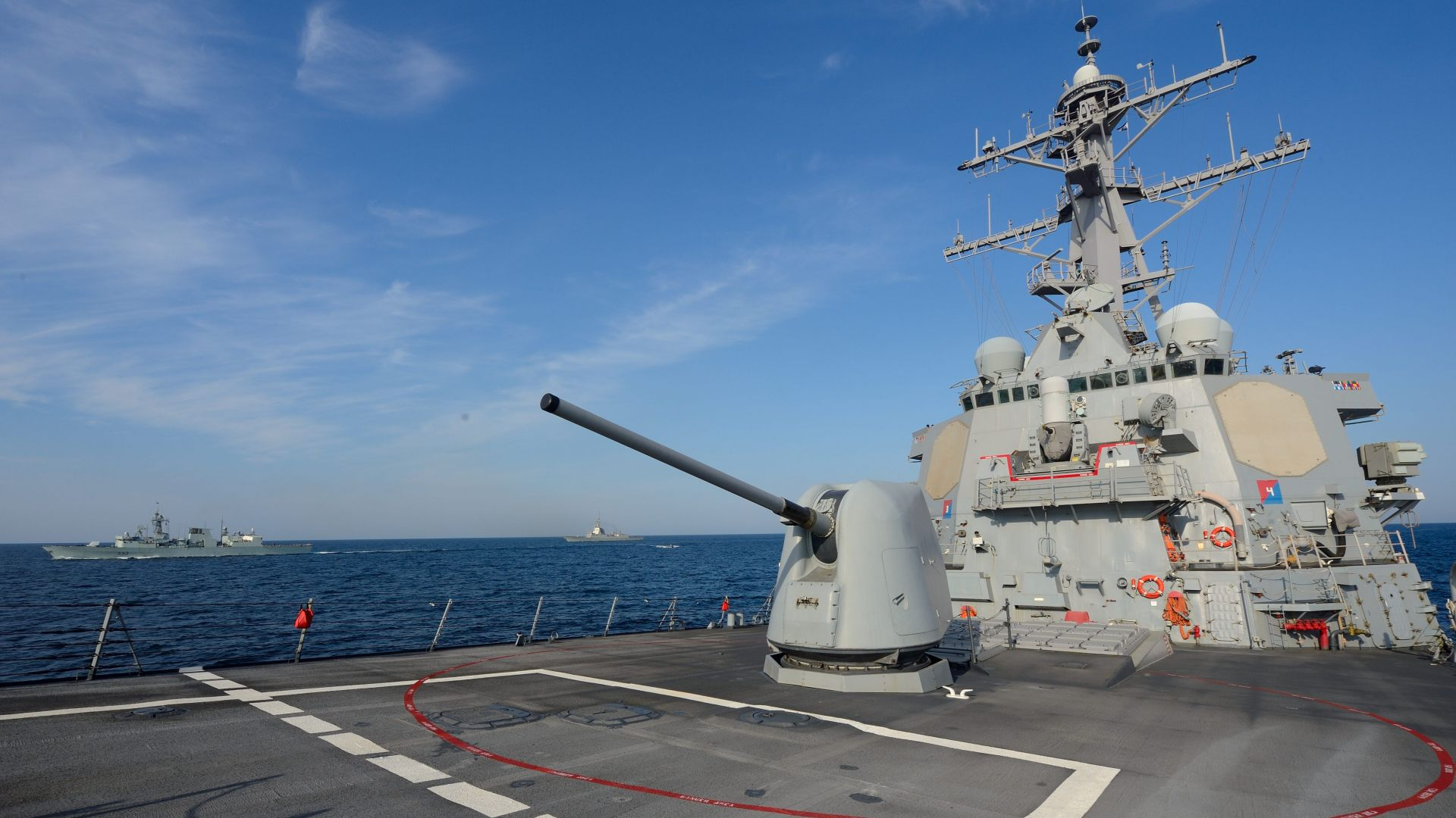 USS Ross, DDG-71, Arleigh Burke-class, guided-missile destroyer, USA Navy (horizontal)