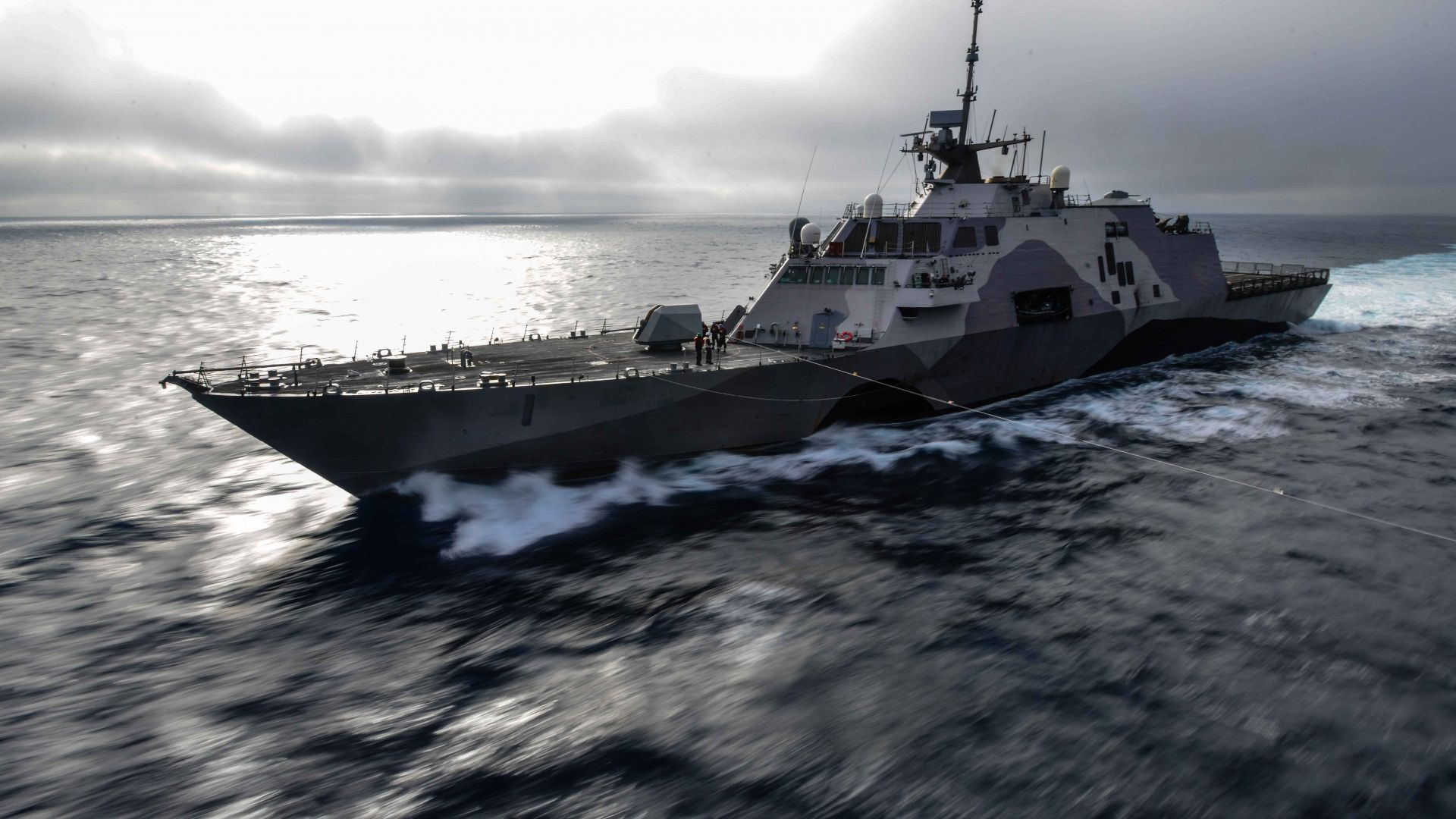 USS Freedom, LCS-1, lead ship, Freedom class, littoral combat, USA Navy (horizontal)