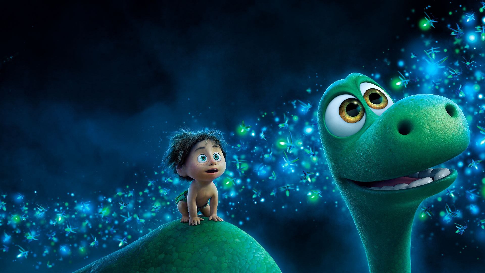 The Good Dinosaur, dinosaur, boy, Brachiosaurus, Pixar (horizontal)