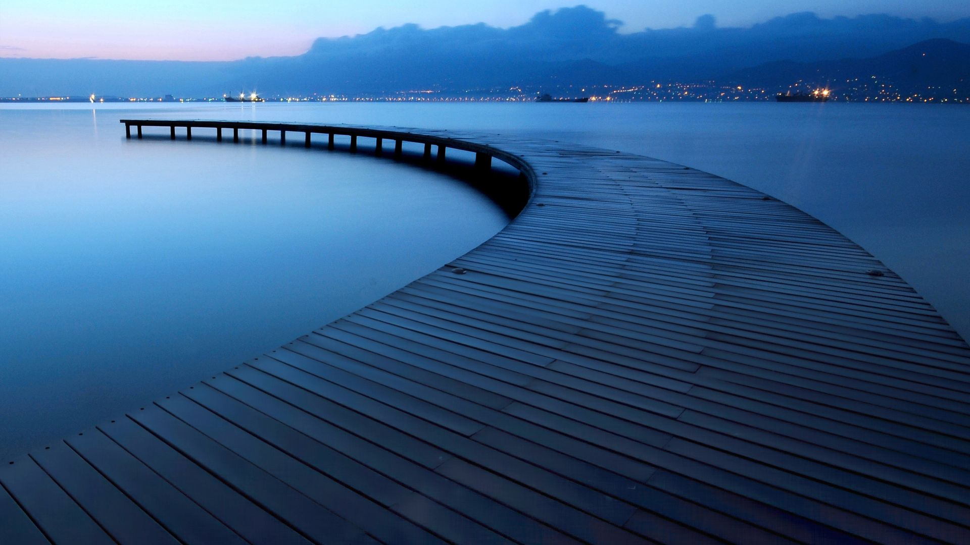 lake, 4k, 5k wallpaper, evening, pier (horizontal)