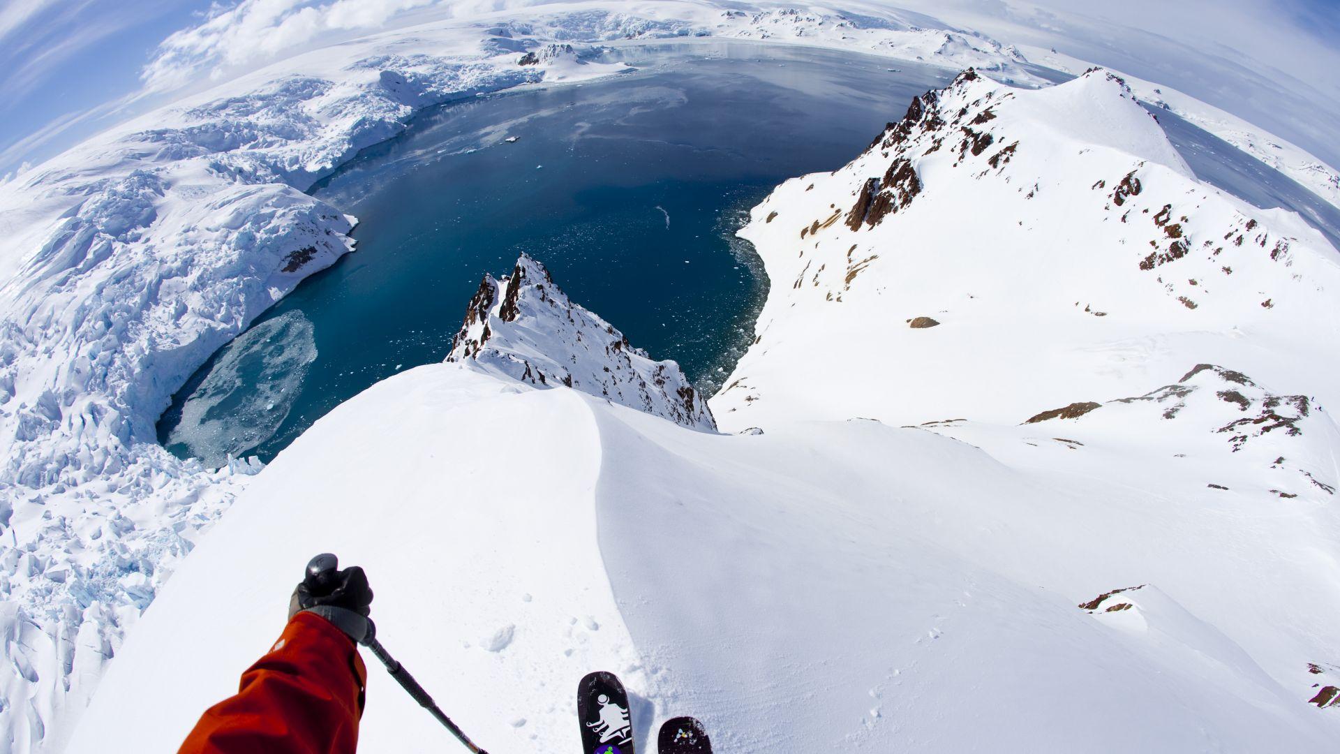 wallpaper antarctica, 5k, 4k wallpaper, 8k, skiing, travel, tourism