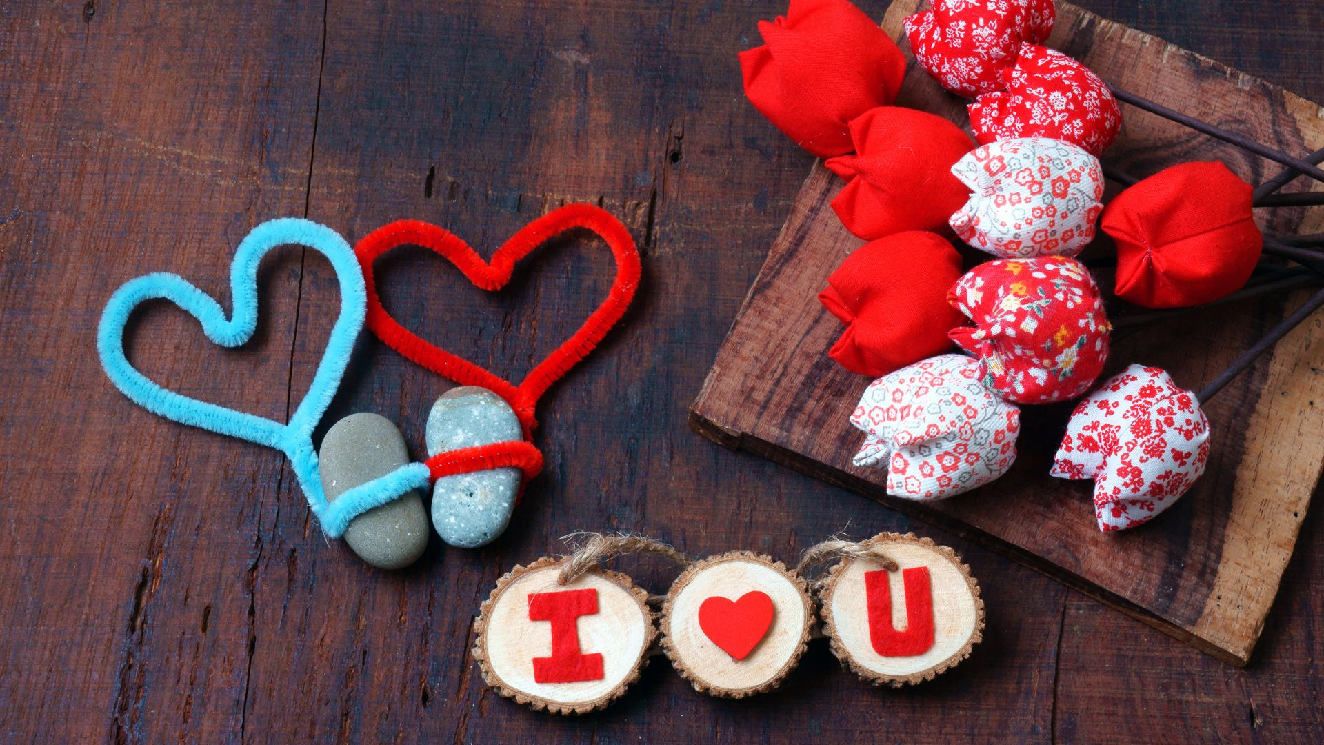 Valentine's Day, heart, decorations, tulip, romantic, love (horizontal)