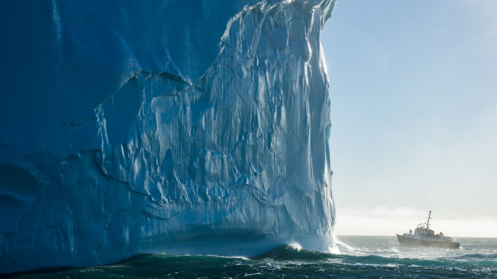 Iceberg, 4k, HD wallpaper, South Georgia, Atlantic Ocean, ship, travel, tourism, ocean, National Geographic Traveler Photo Contest (horizontal)