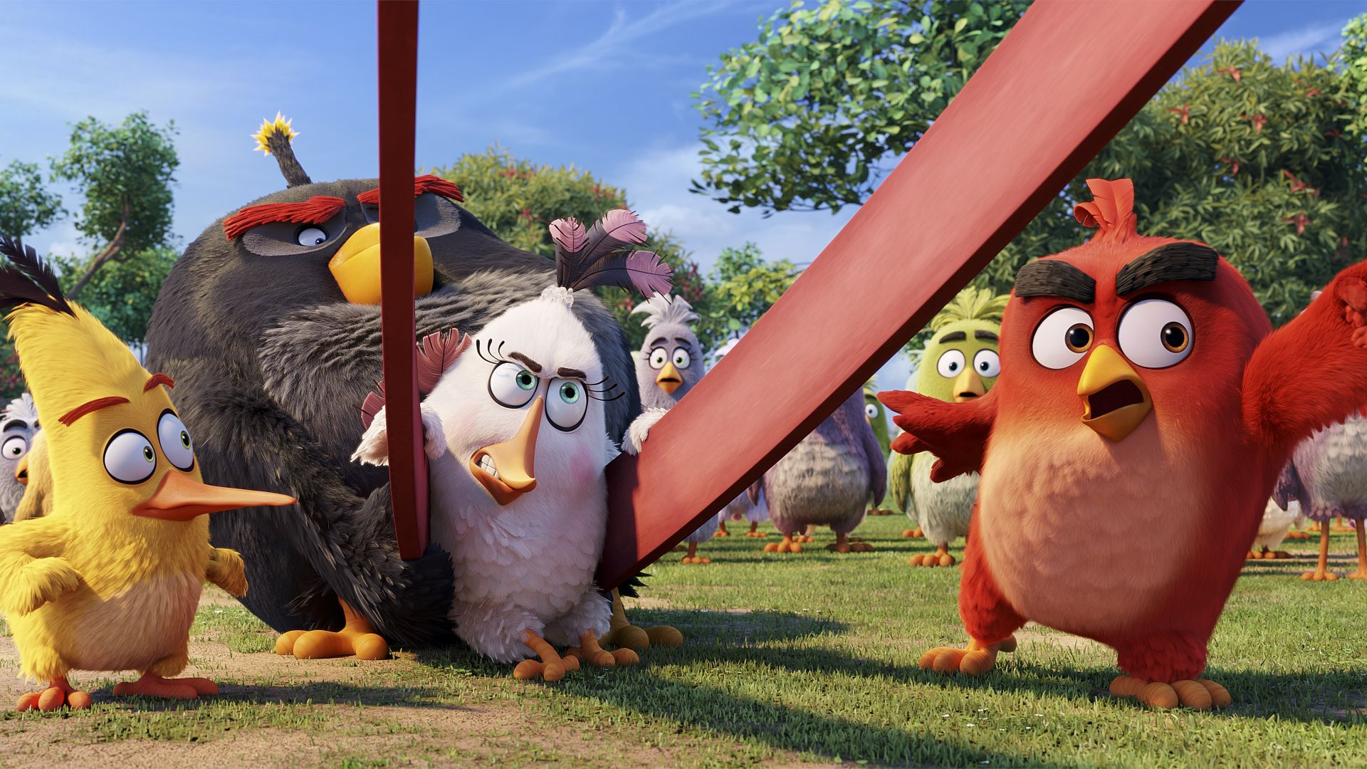Wallpaper Angry Birds Movie, chuck, red, bomb, Best Animation Movies of 2016, Movies #8573 - 웹