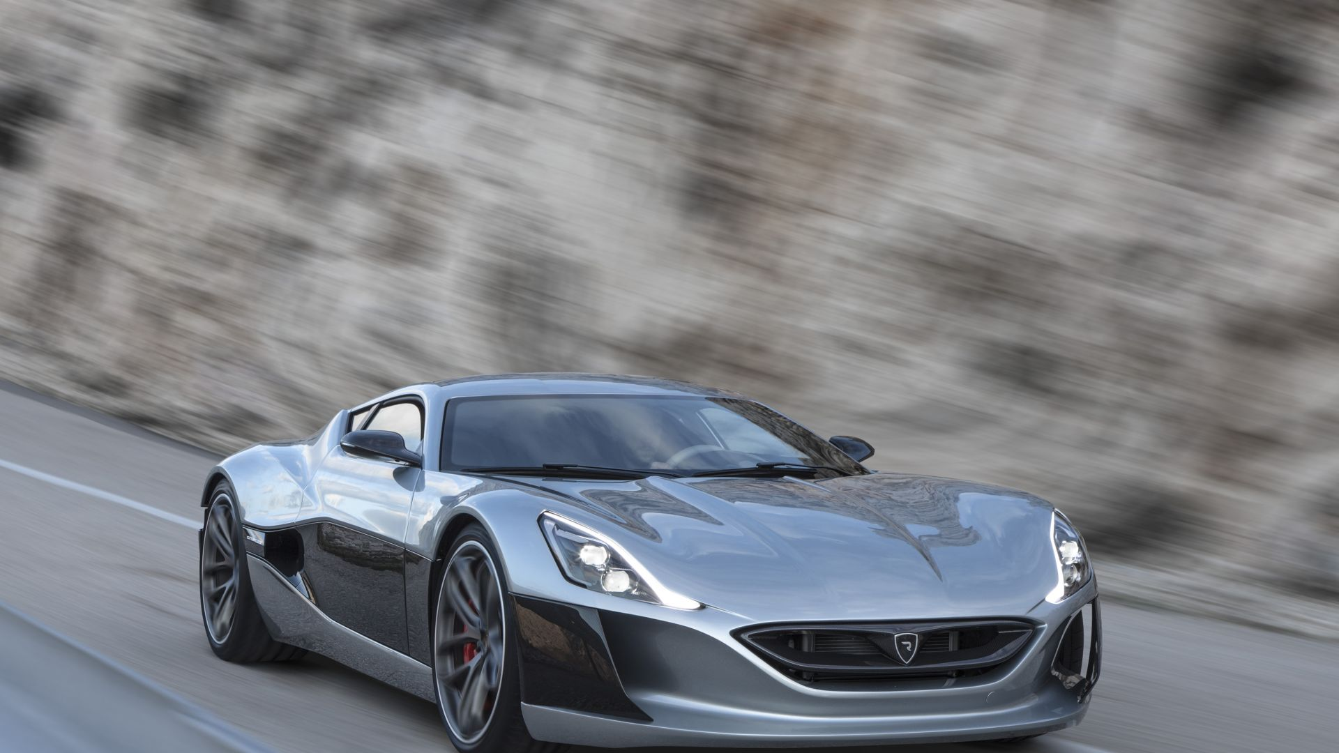 Rimac Concept One, Geneva Auto Show 2016, ultra-light super car, sport car, silver (horizontal)