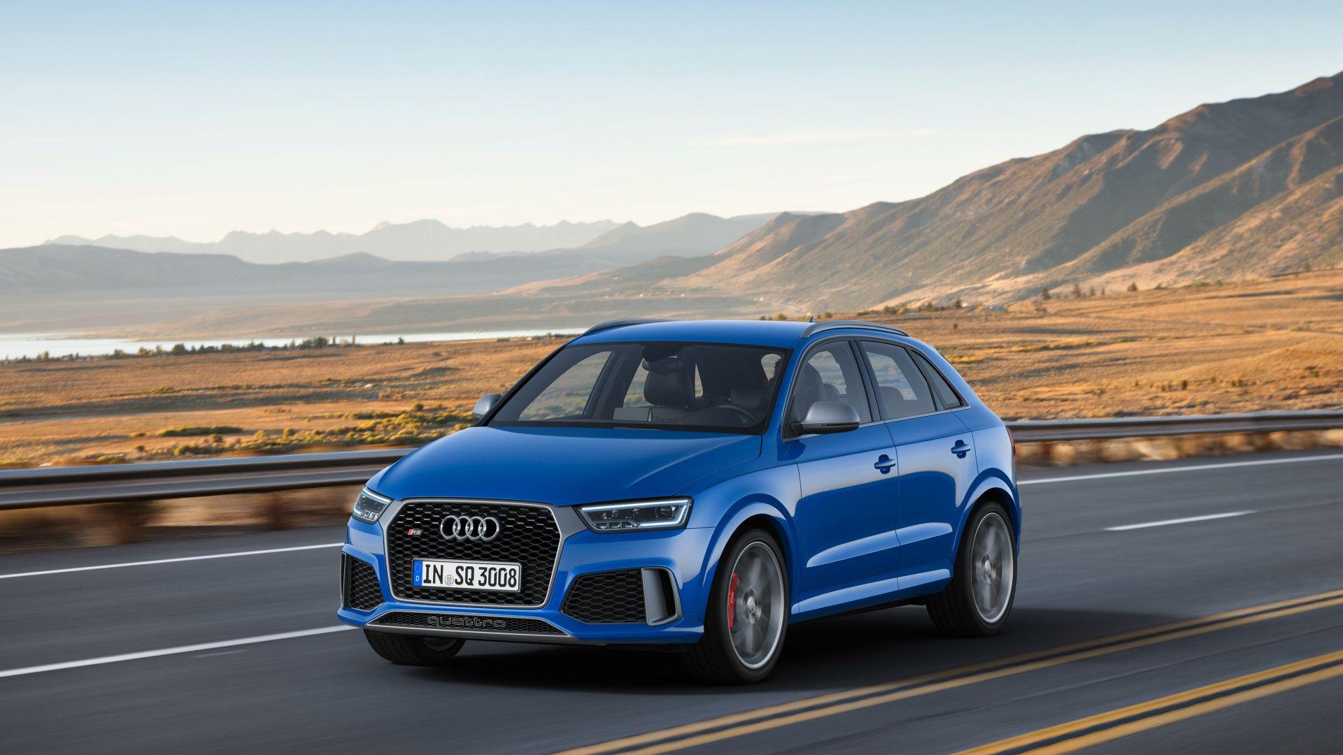 Audi RS Q3 performance (8U), Geneva Auto Show 2016, crossover, blue (horizontal)