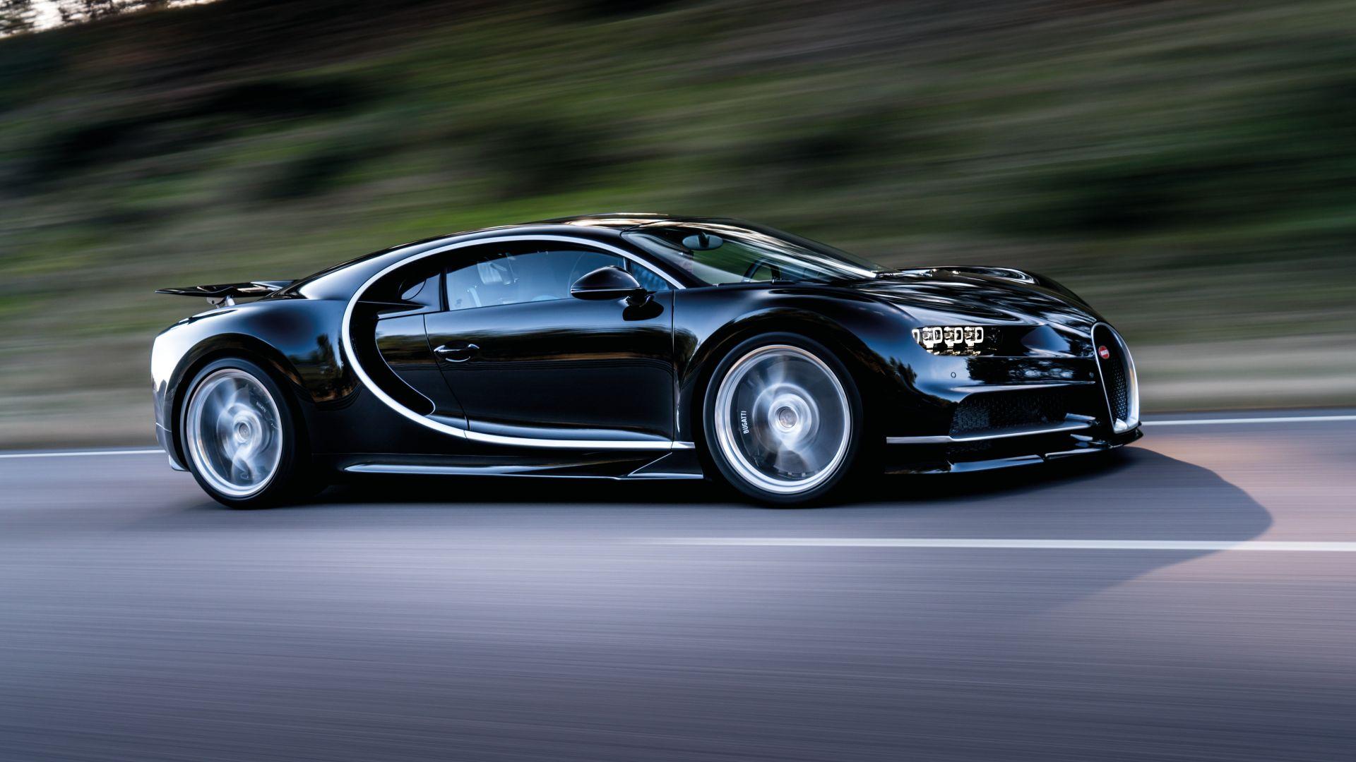 Wallpaper Bugatti Chiron Geneva Auto Show 2017 Hypercar Black