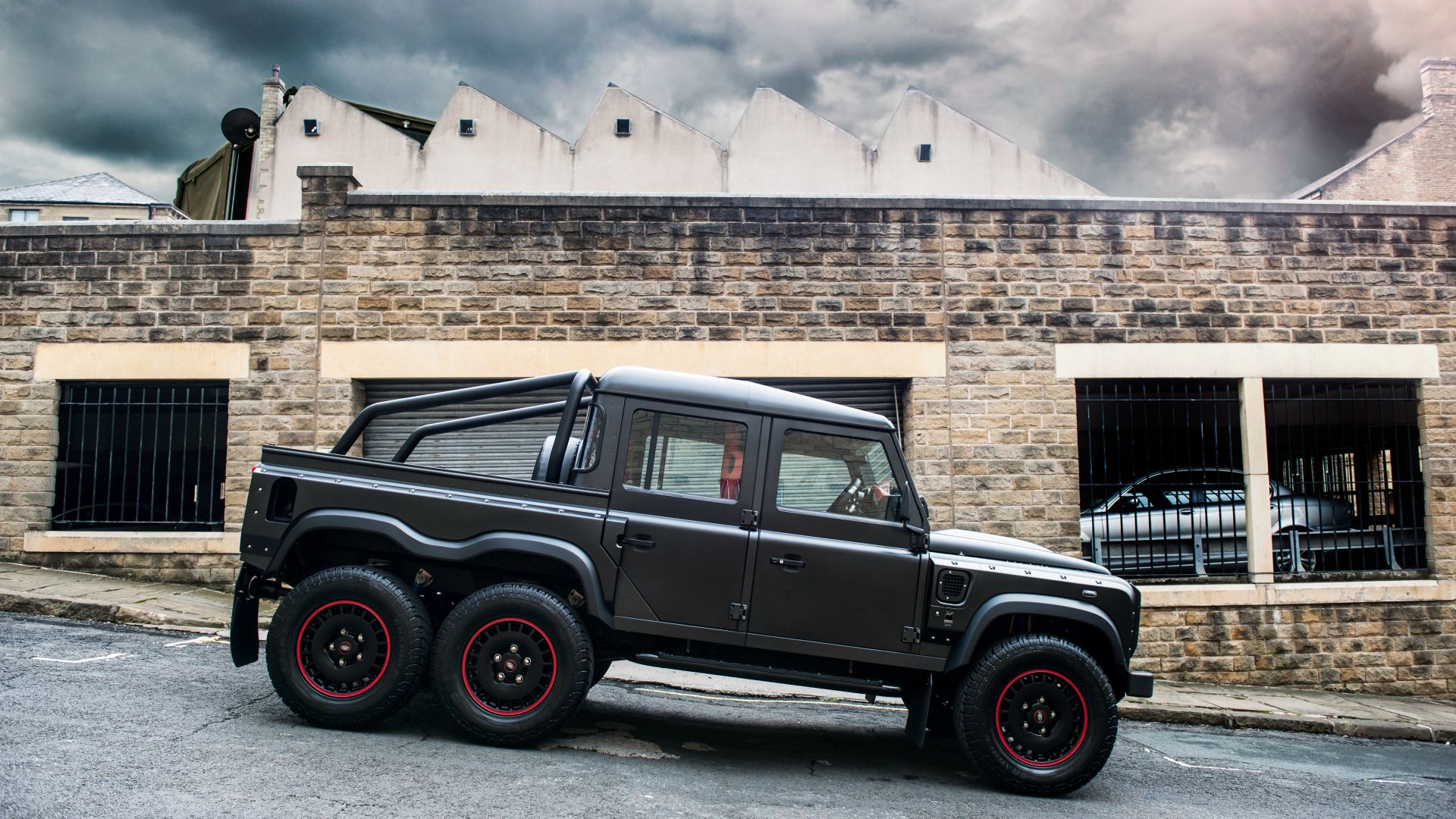 Project Kahn Flying Huntsman 110 6x6, Double Cab, Pickup, black (horizontal)