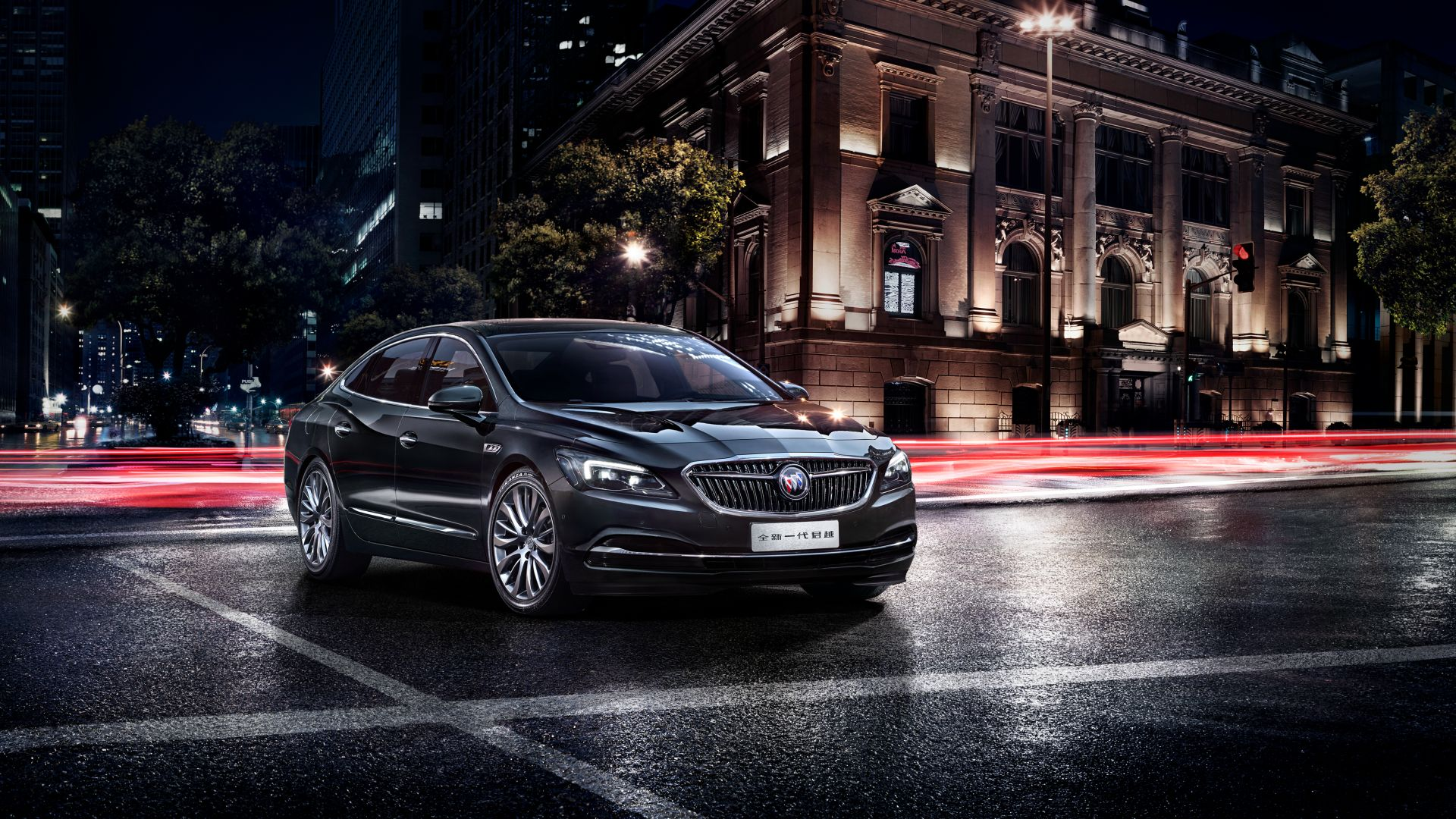 Buick LaCrosse, sedan, business, black (horizontal)
